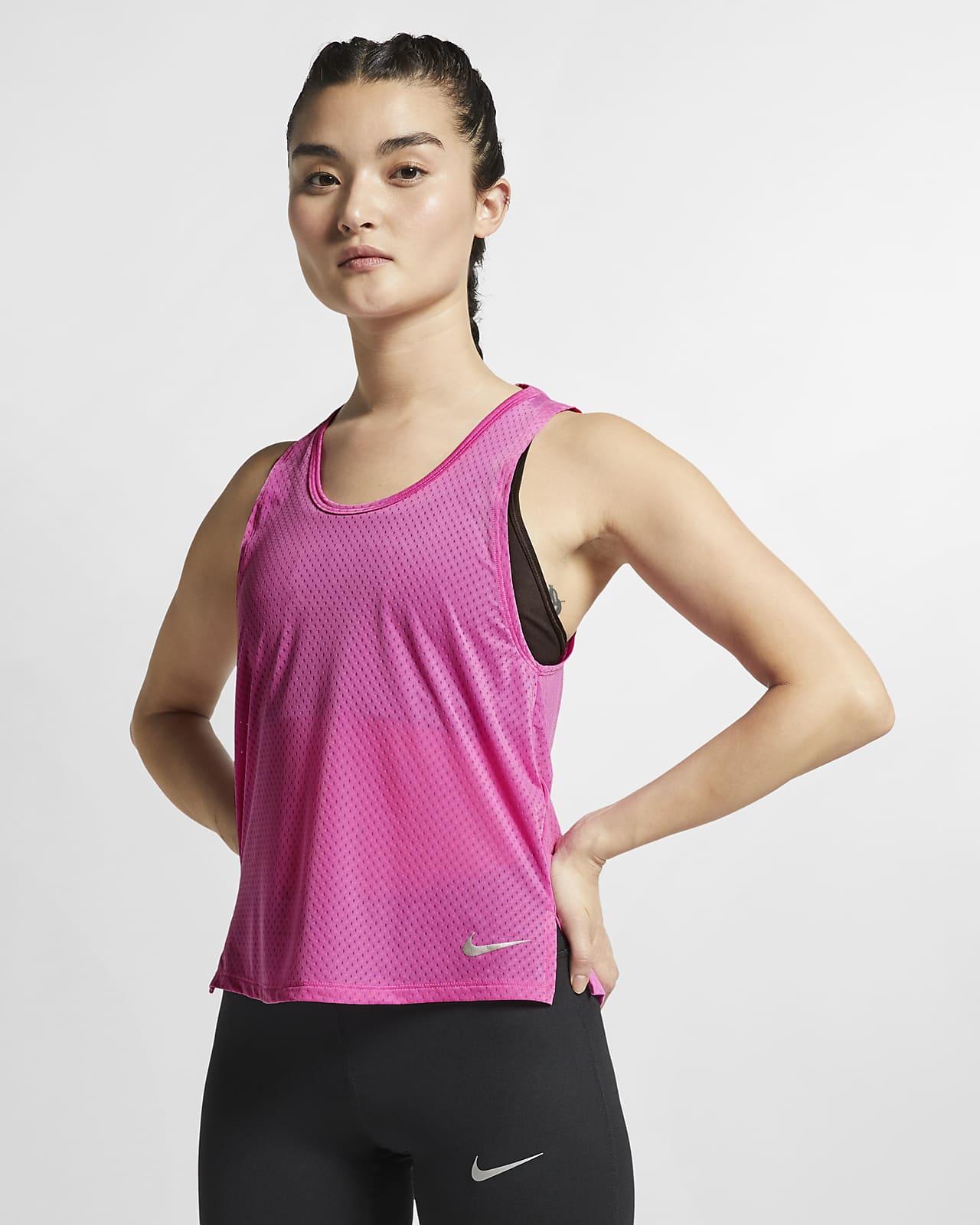 Camiseta de tirantes de running para mujer Nike Breathe Miler