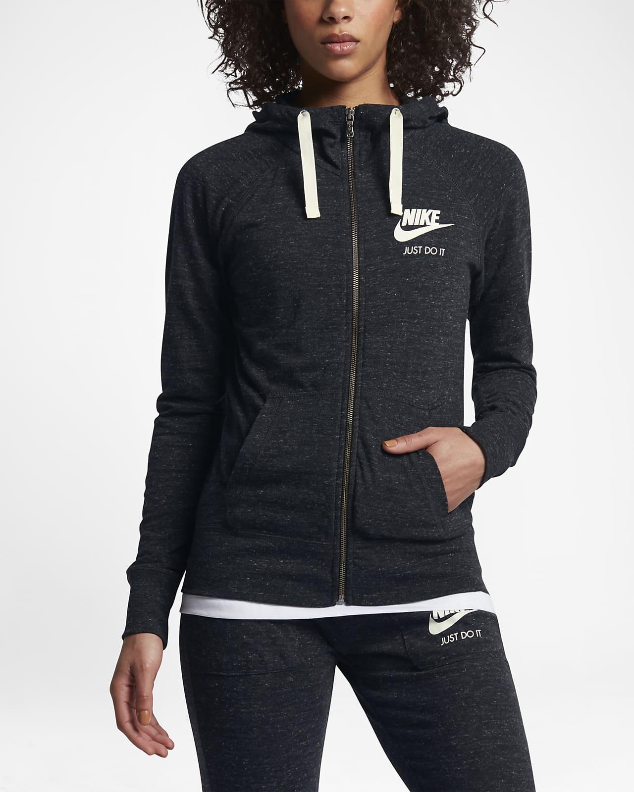 Dámská mikina s kapucí a dlouhým zipem Nike Sportswear Gym Vintage