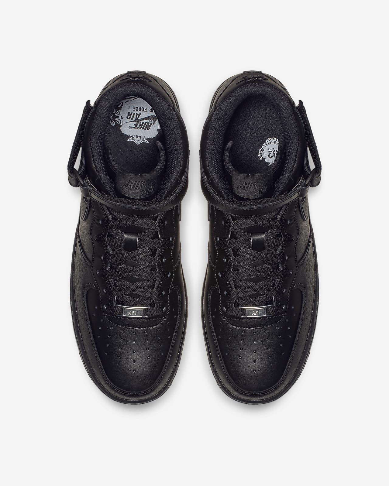 nike air force 1 mens black