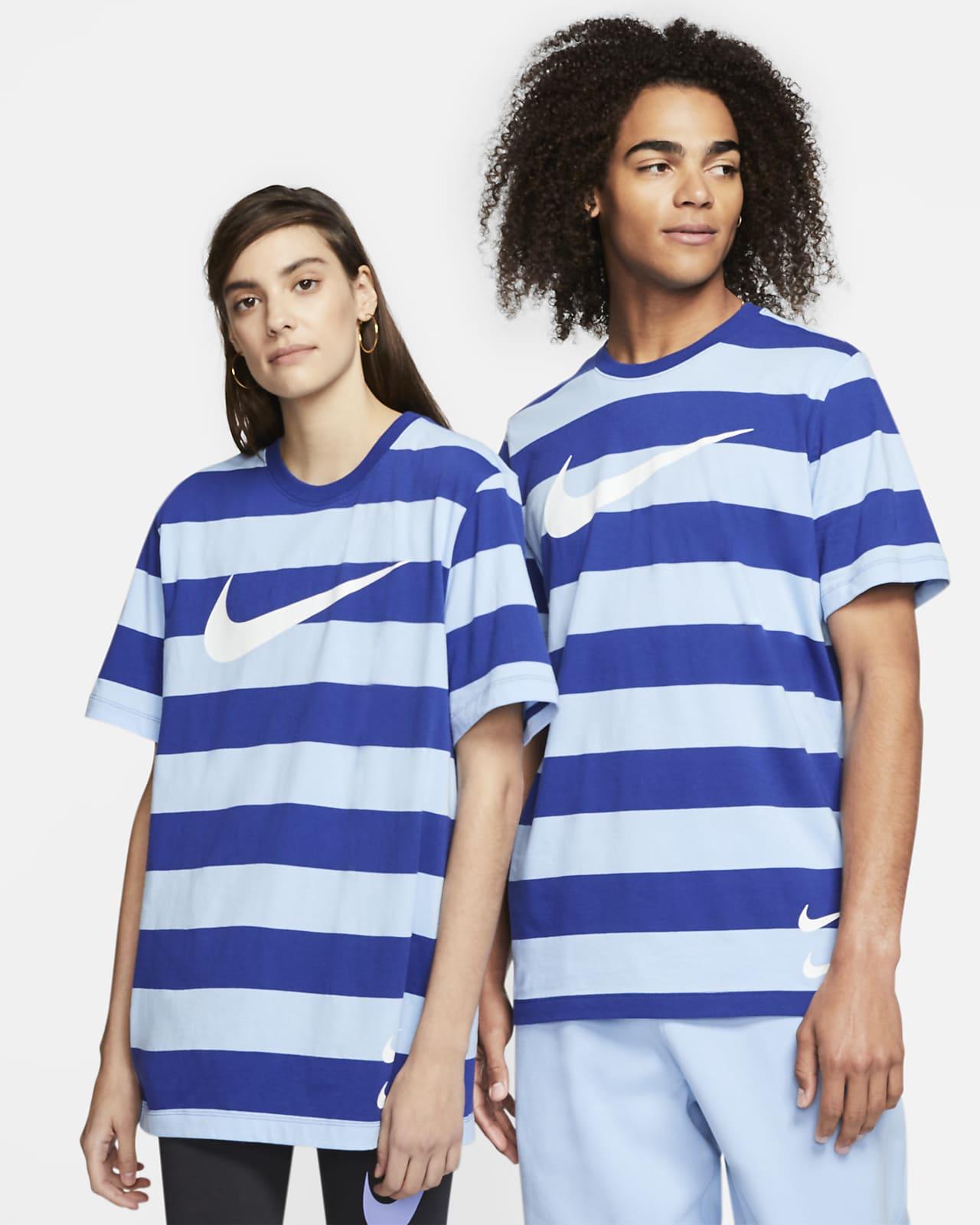 ナイキ スポーツウェア スウッシュ メンズ ストライプ Tシャツ