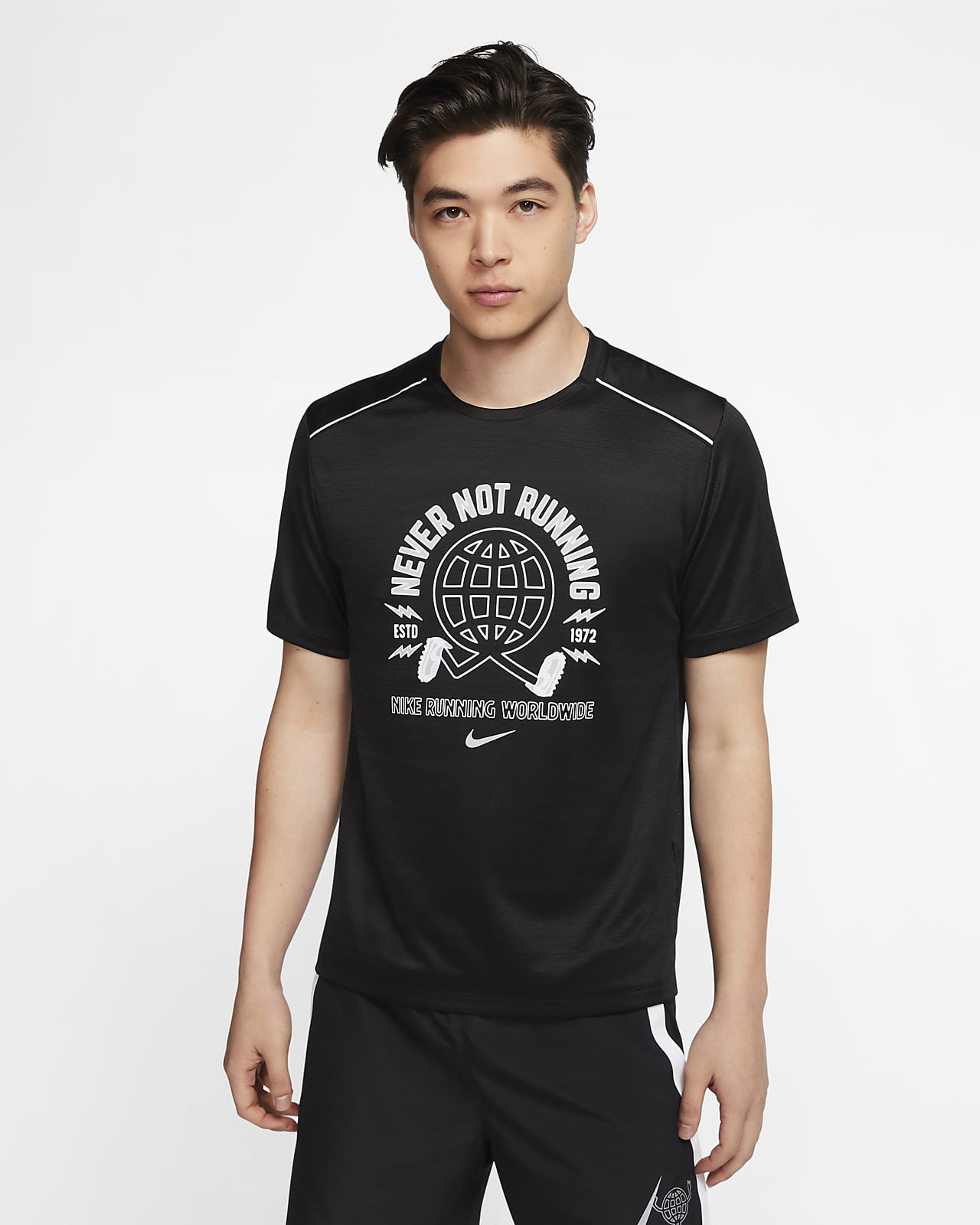 Nike Miler Wild Run 男款短袖跑步上衣