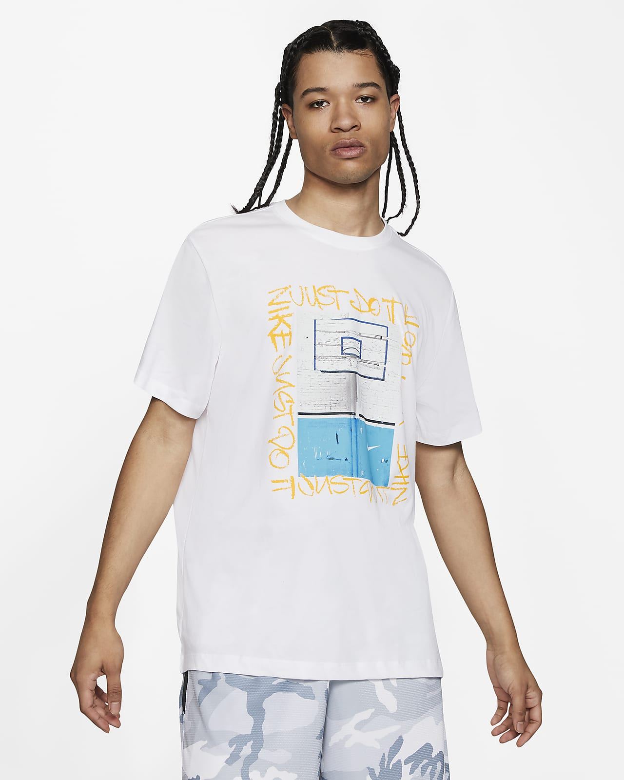 Nike Dri-FIT Hoop Photo basketball-T-shirt til mænd