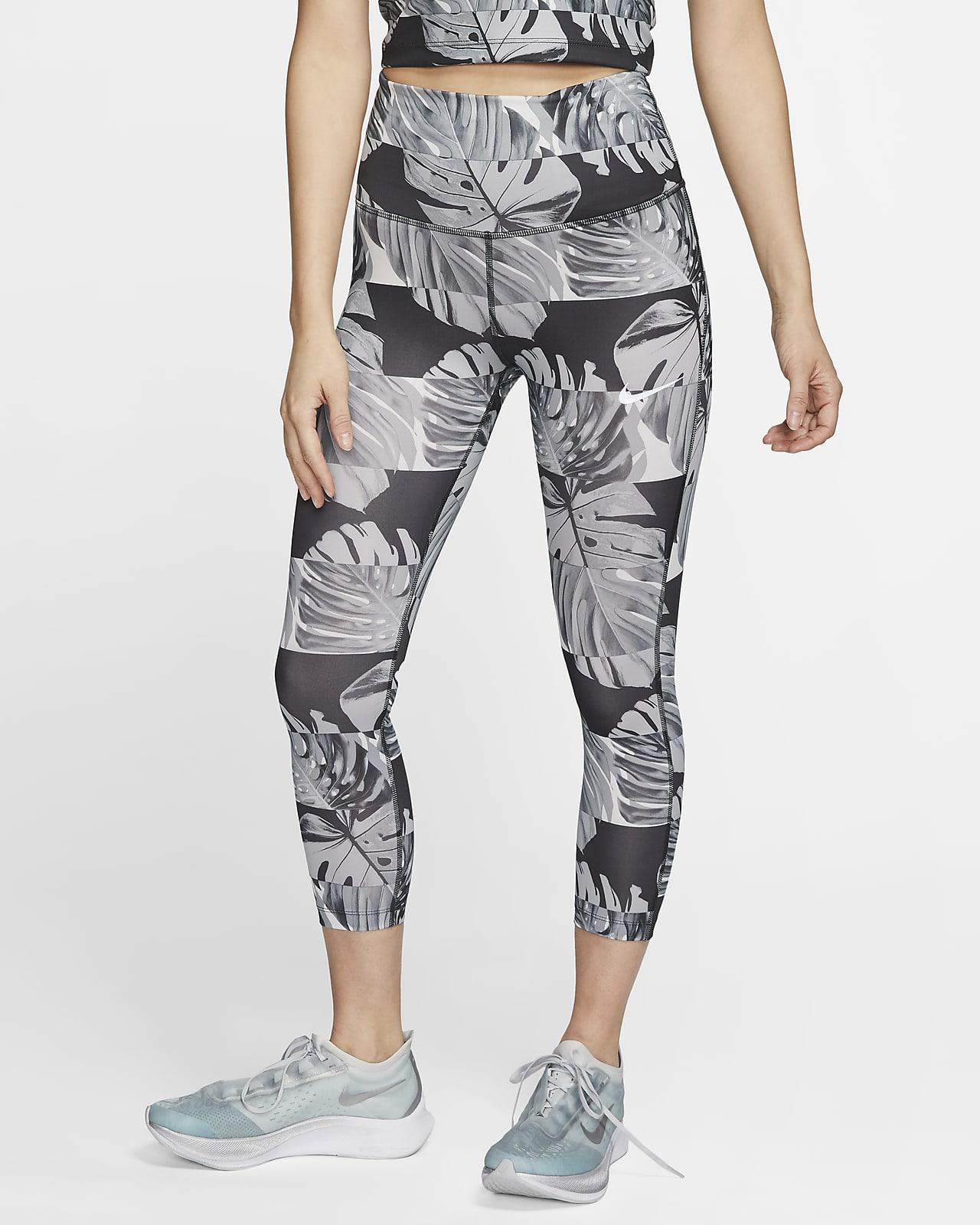 Nike Fast Women's High-Waisted Crop Printed Running Leggings
