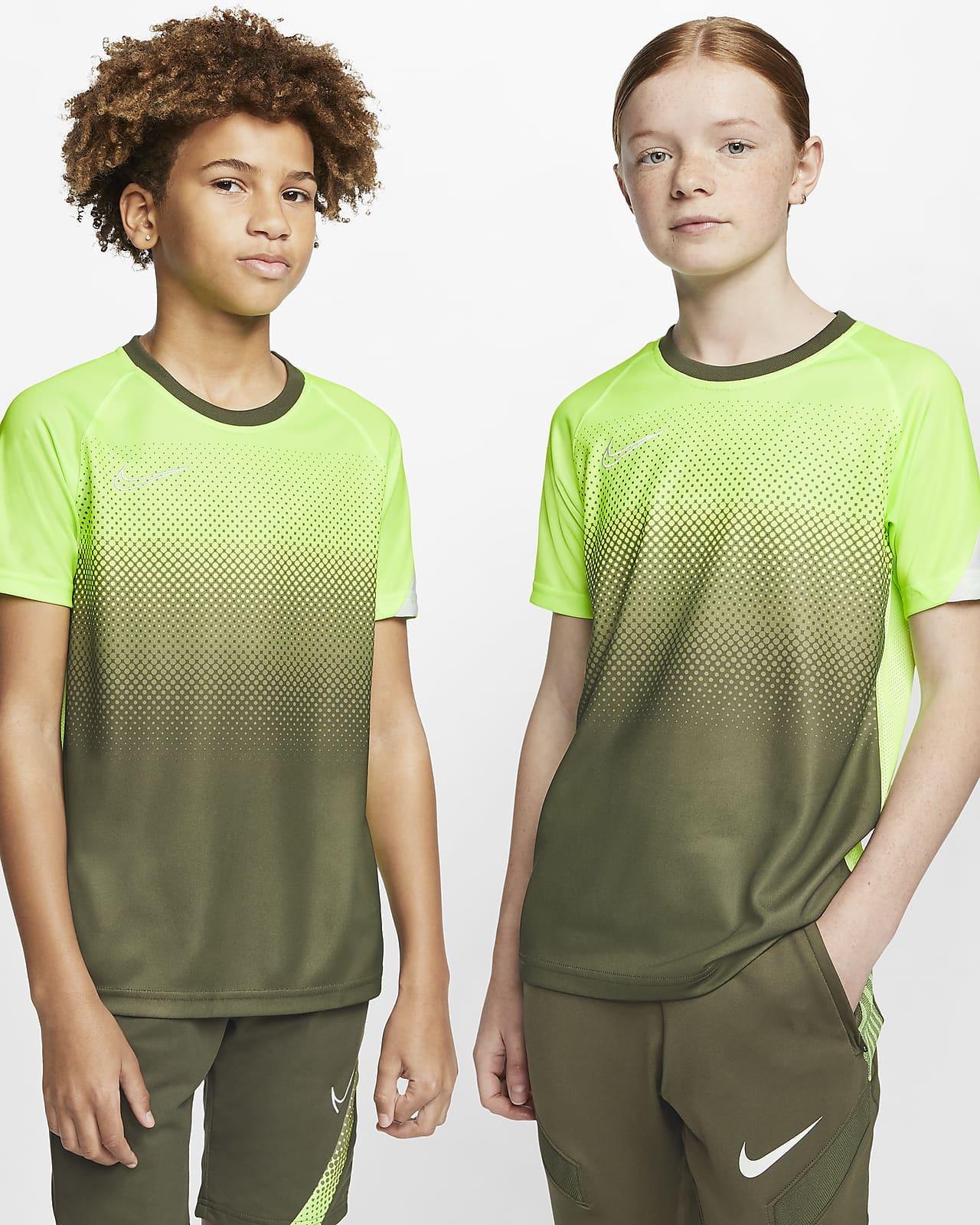 Nike Dri-FIT Academy rövid ujjú futballfelső nagyobb gyerekeknek