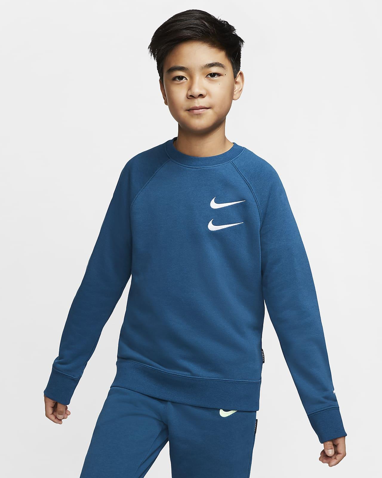 Haut en molleton Nike Sportswear Swoosh pour Garçon plus âgé
