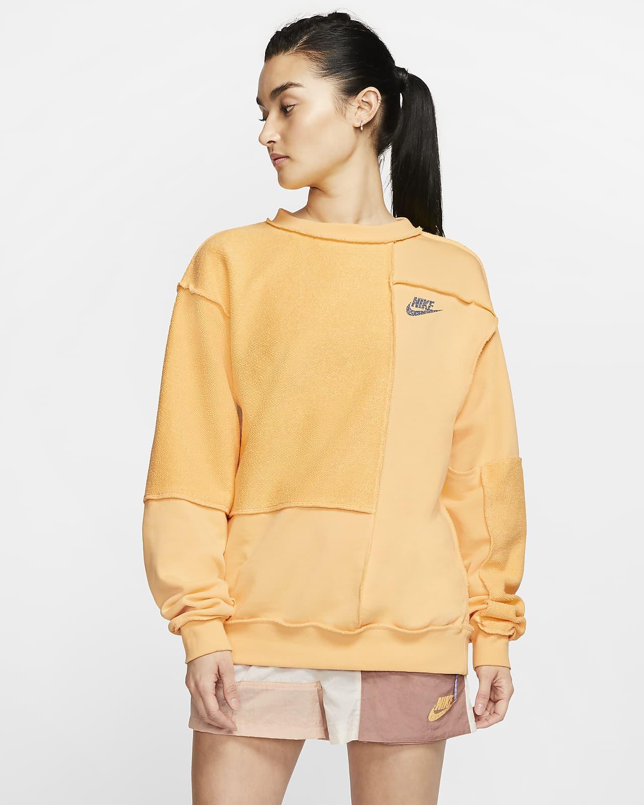 Nike Sportswear Icon Clash 女款 Fleece 貼身圓領上衣