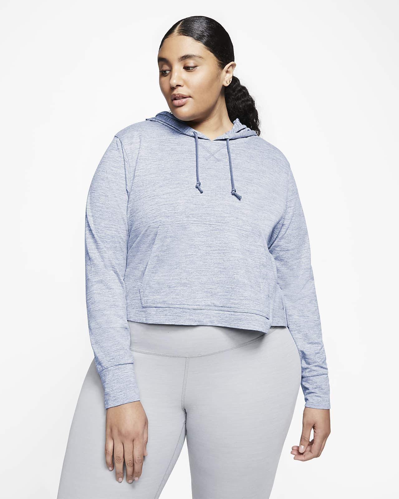 Sweat à capuche court Nike Yoga pour Femme (grande taille)
