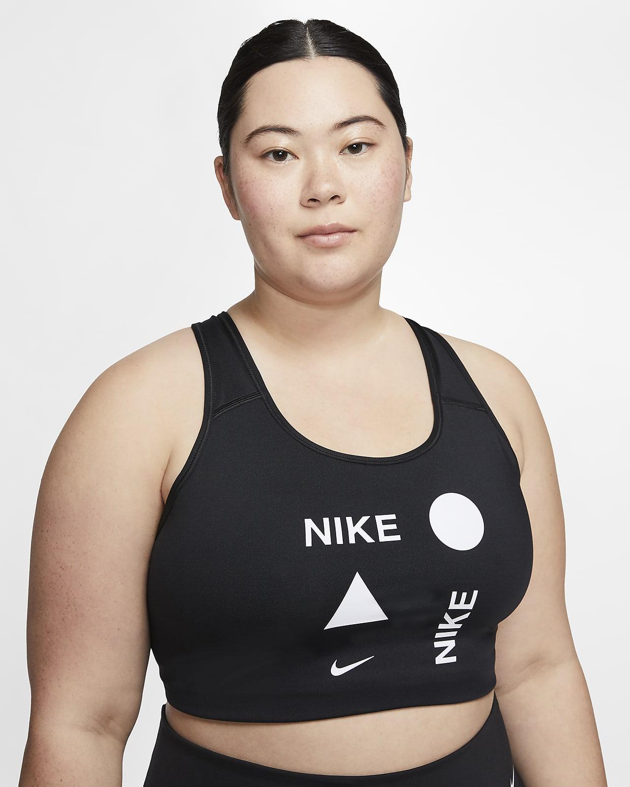 Nike Swoosh Icon Clash Women's Medium-Support Sports Bra (Plus Size)
