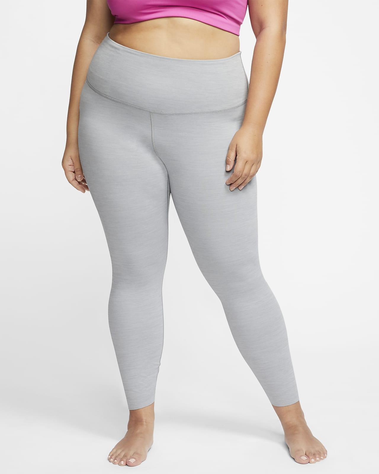 Leggings de tela Infinalon y cintura alta de 7/8 para mujer Nike Yoga Luxe (talla grande)