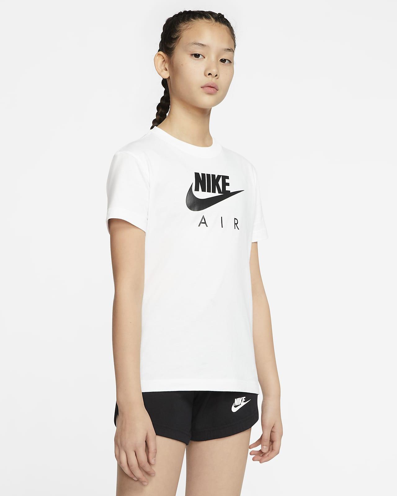 T shirt Nike Air i bomull för ungdom (tjejer)