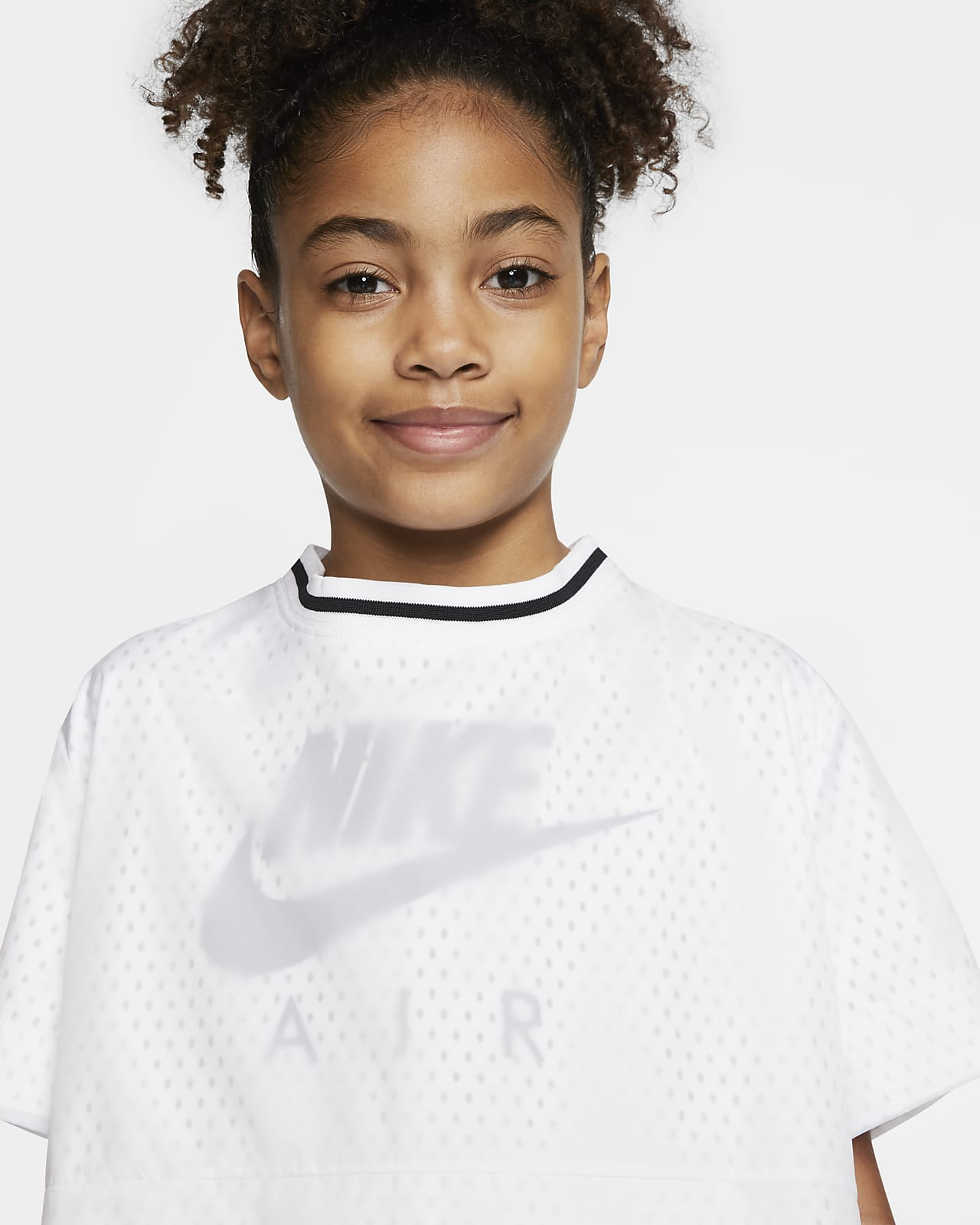 Kortärmad tröja Nike Air för ungdom (tjejer)