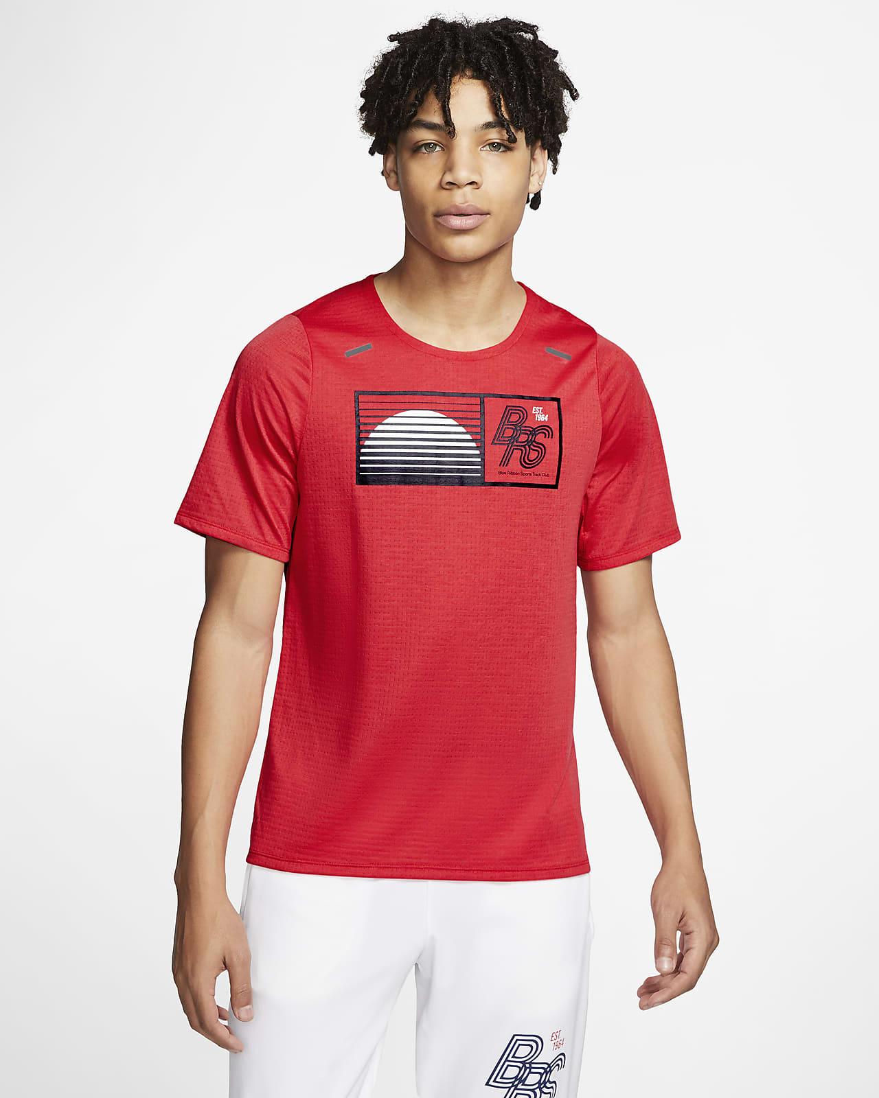 เสื้อวิ่งผู้ชาย Nike Rise 365 Blue Ribbon Sports