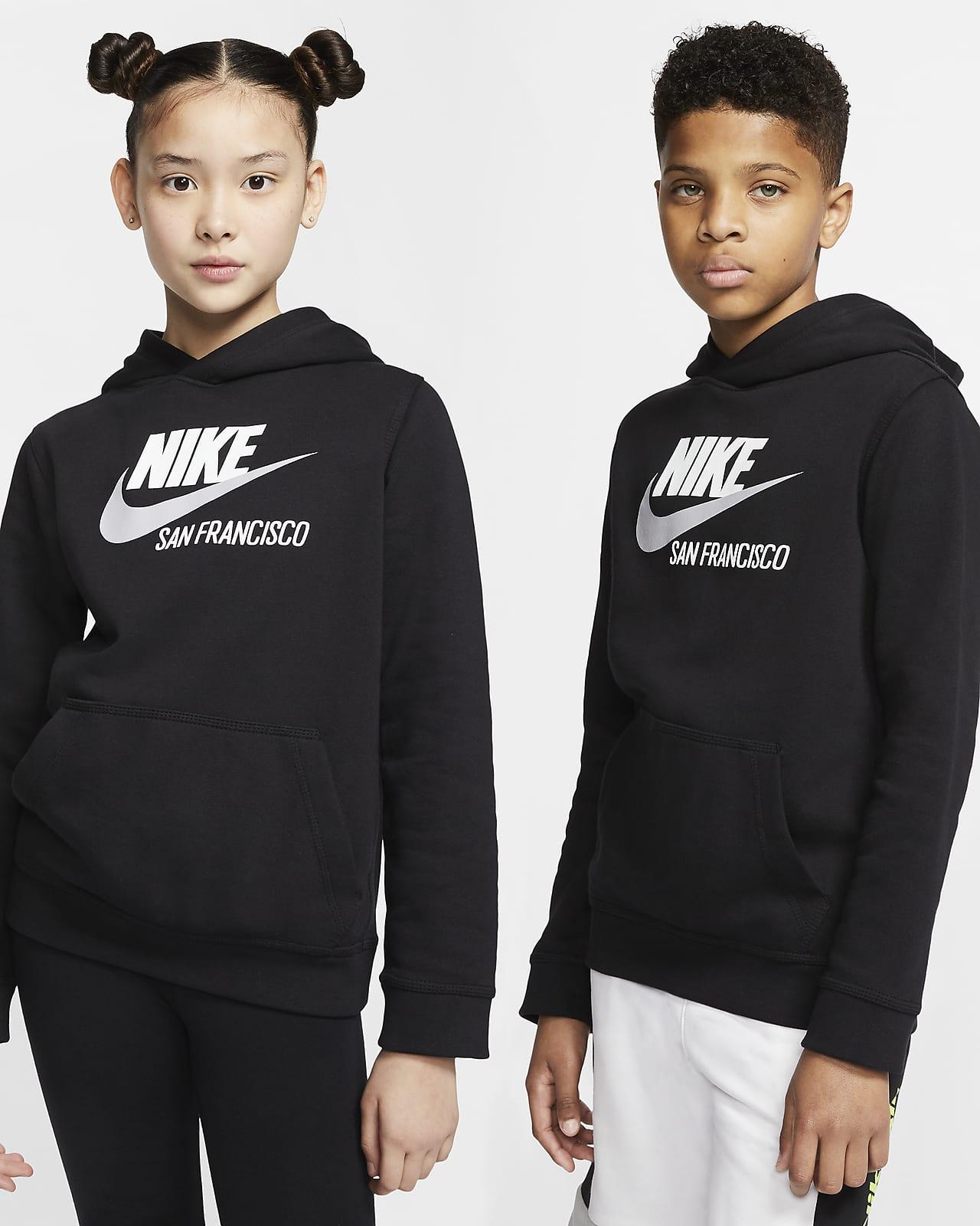 Sudadera con capucha sin cierre para niños talla grande Nike Sportswear Club Fleece San Francisco