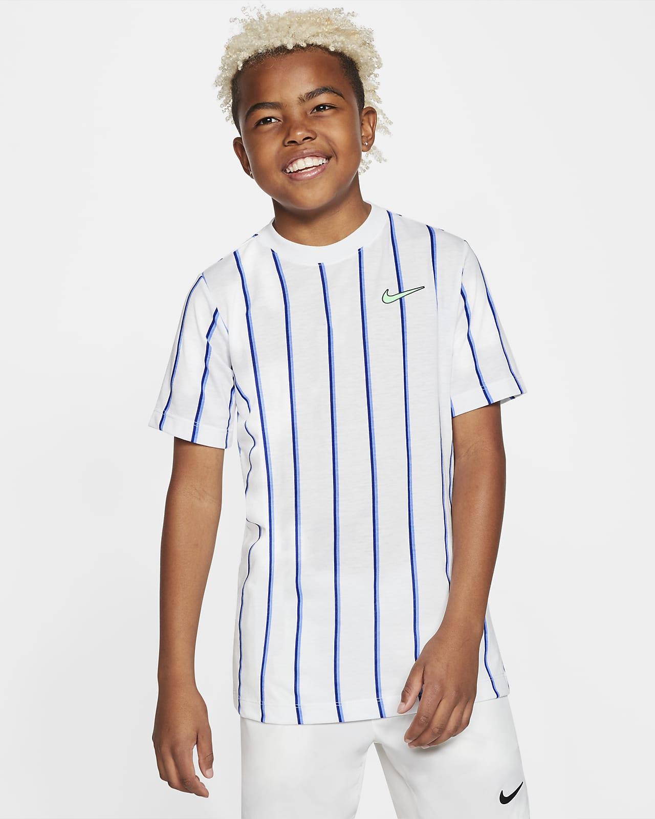 NikeCourt Dri-FIT Tennisshirt voor jongens