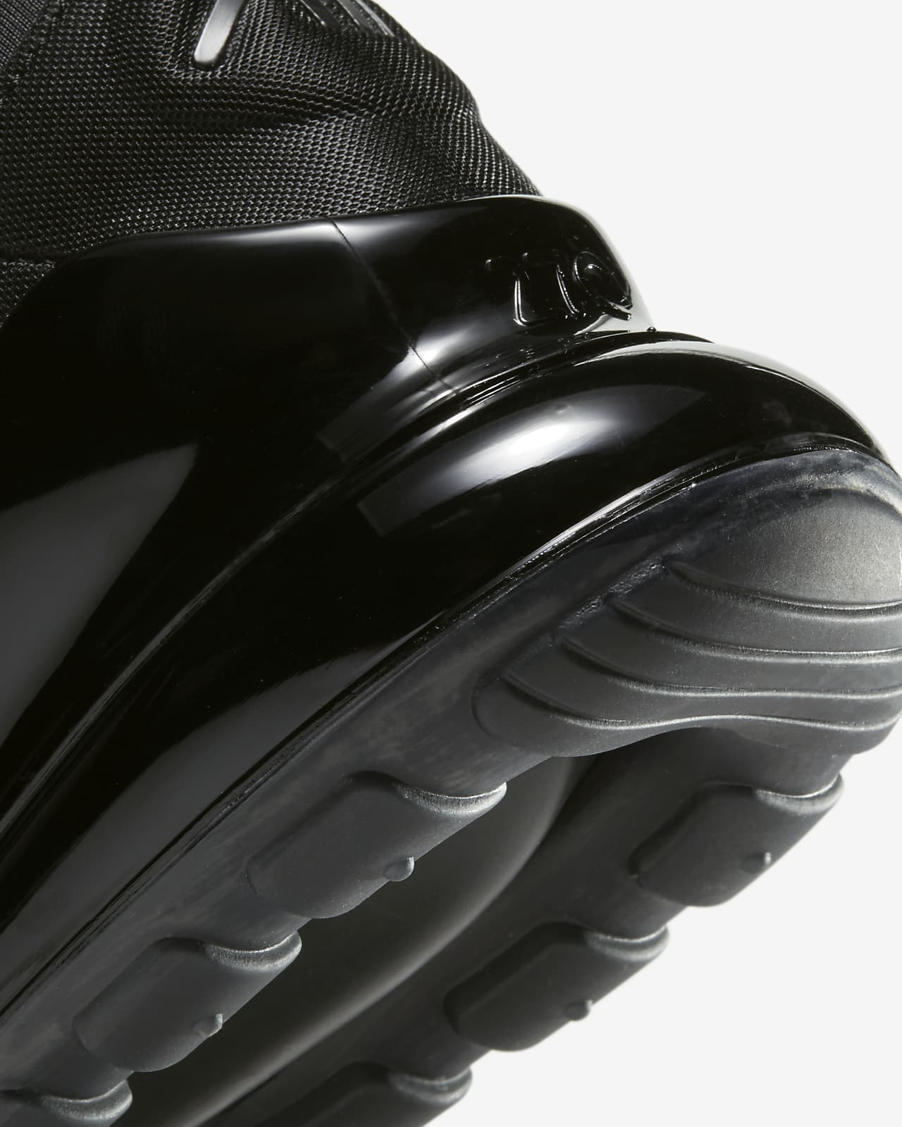black nike rubber shoes