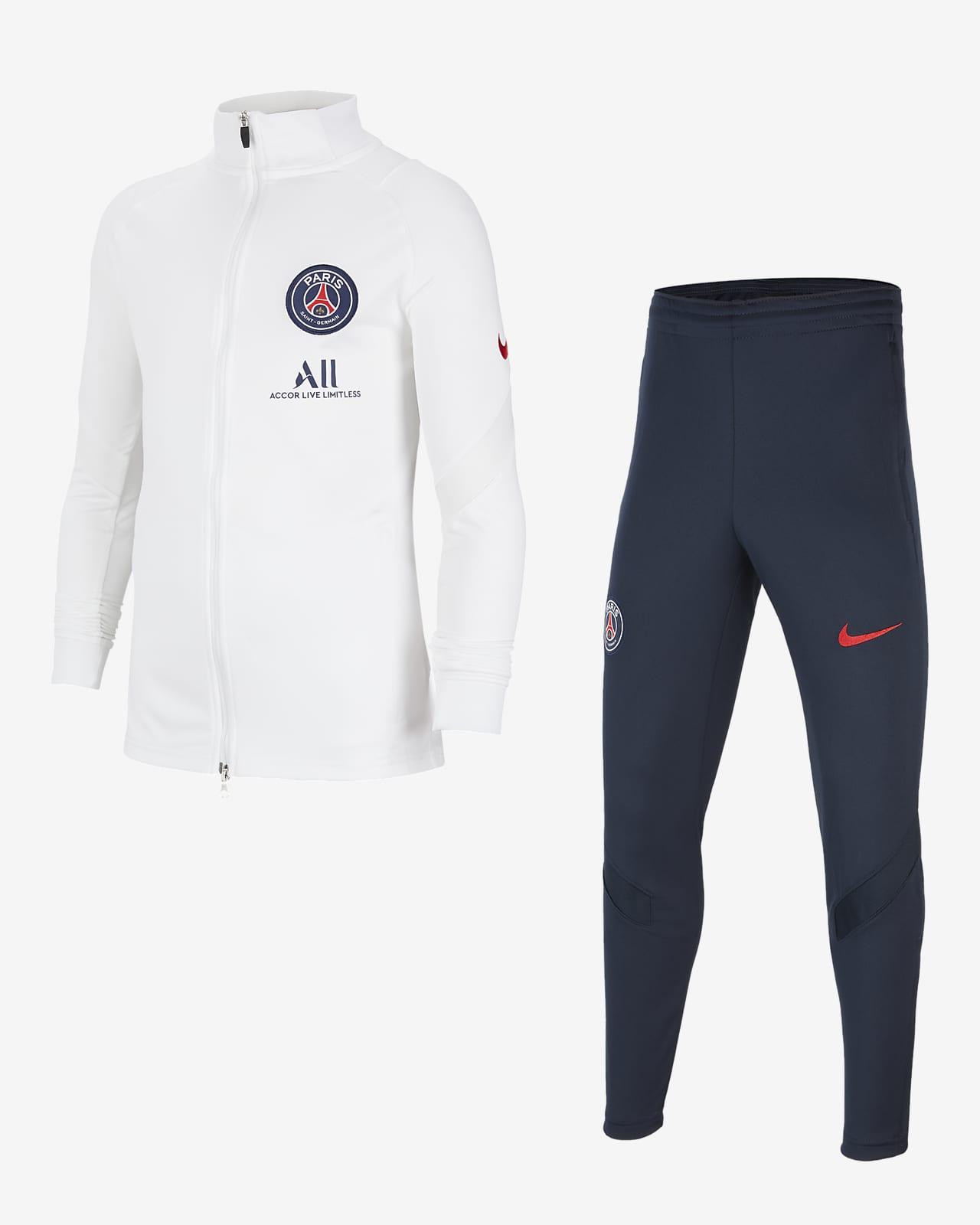 Paris Saint-Germain Strike strikket fotballtracksuit til store barn