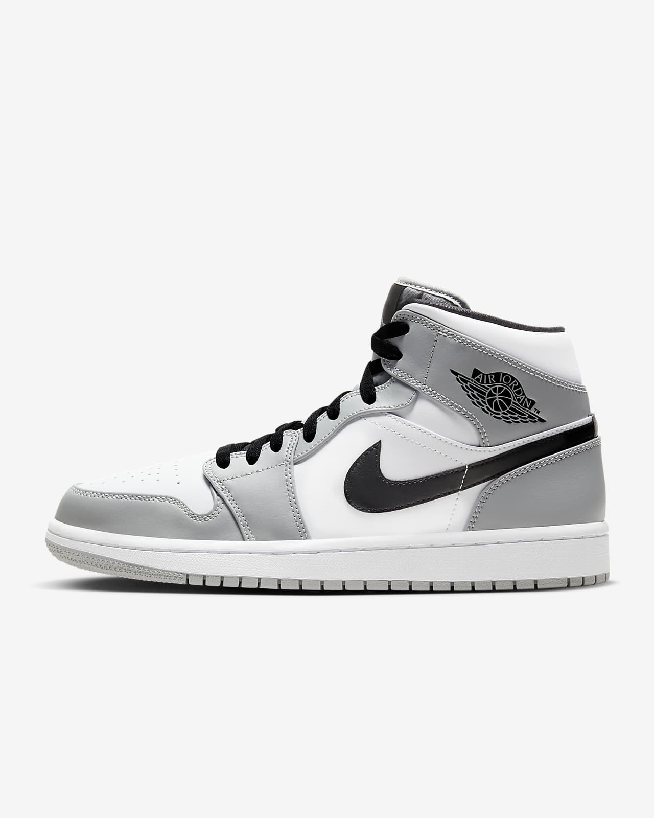 Brand New Jordan AJ 1 Mid Black Dark Gray Athletic Men/'s Basketball Shoes