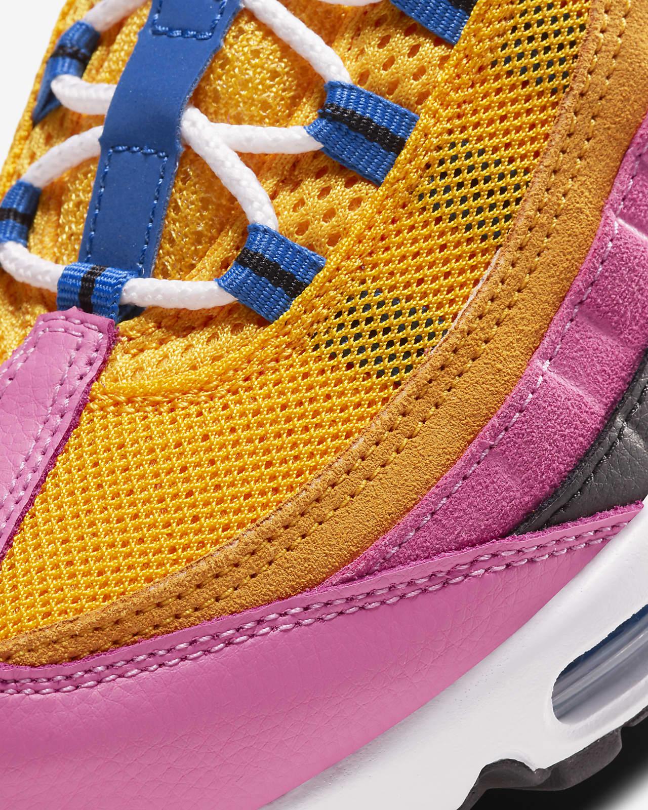 air max 95 rosa e azul