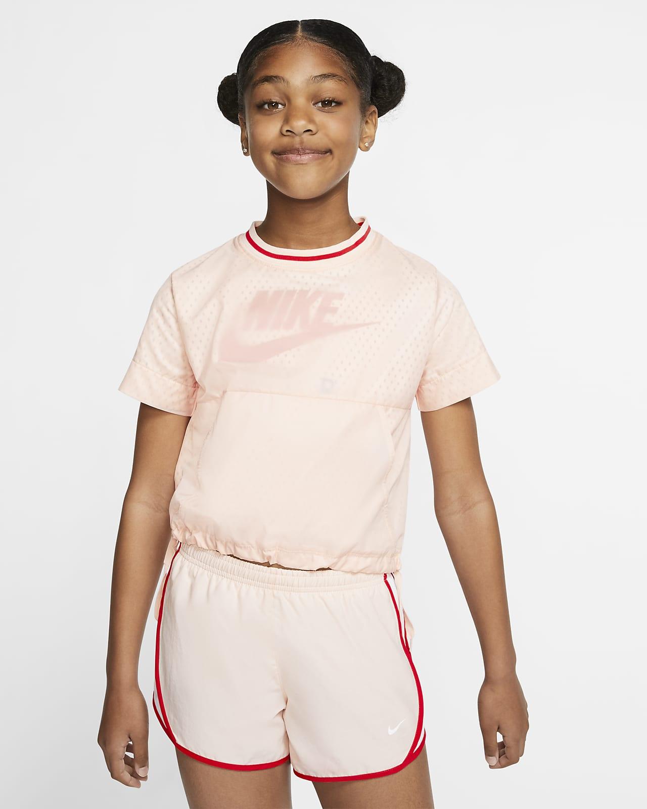 Prenda para la parte superior de manga corta para niña talla grande Nike Air
