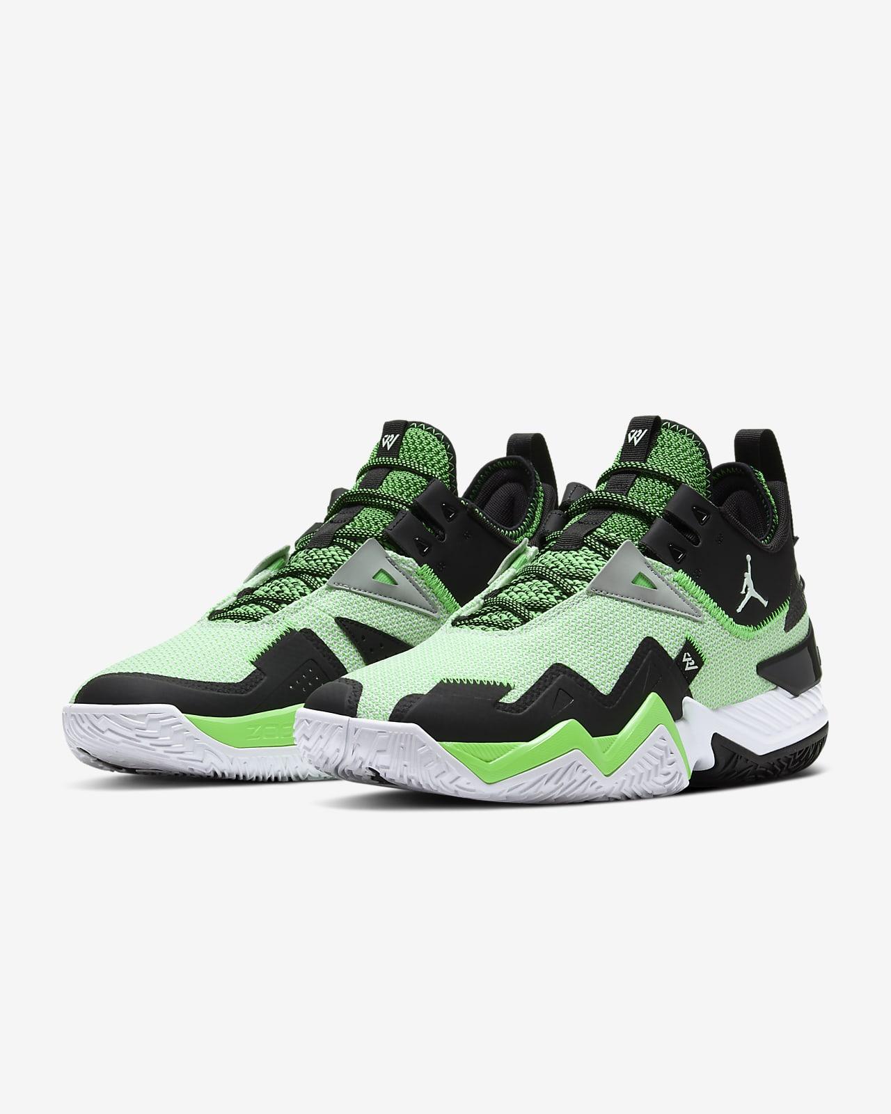 Chaussure de Basketball Jordan Westbrook One Take vert pour