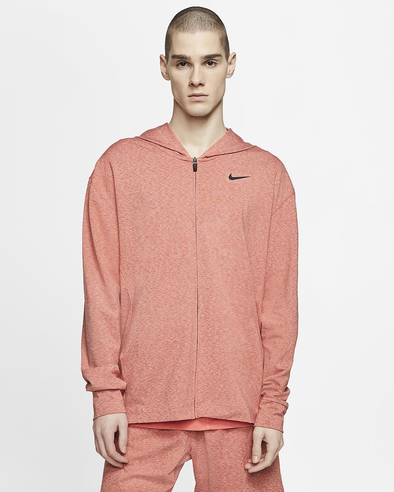 Sweat à capuche de yoga entièrement zippé Nike Dri-FIT pour Homme