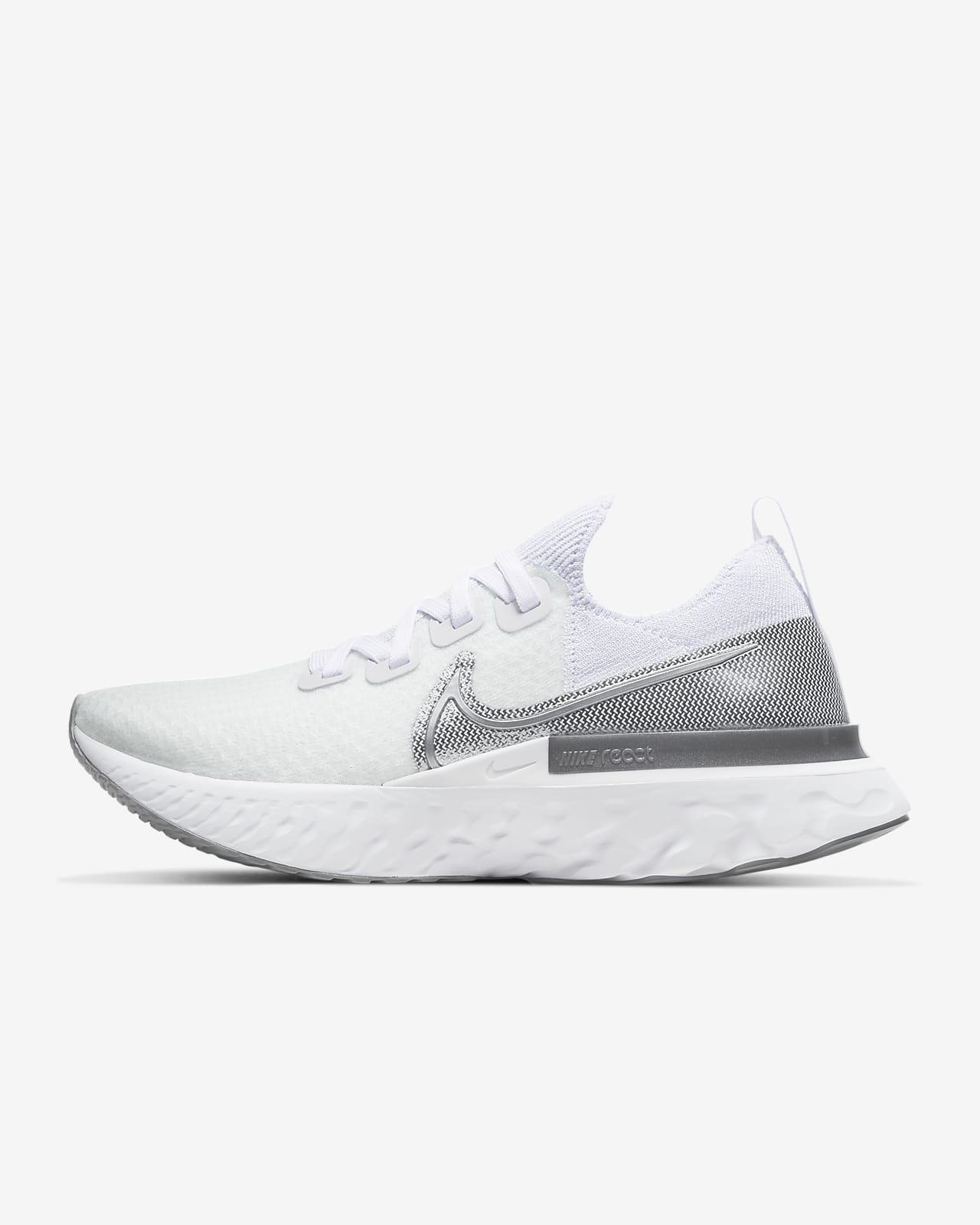 white nike running shoes