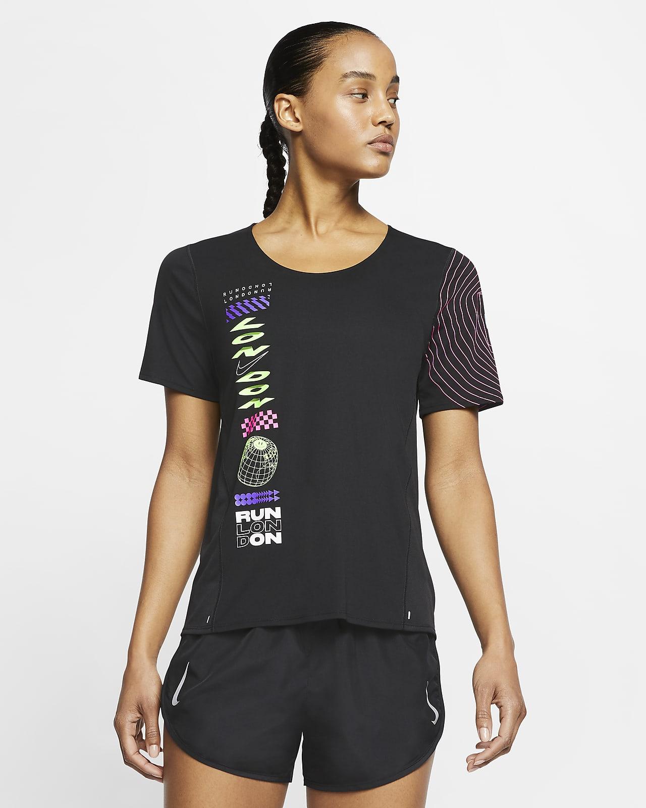 Nike City Sleek London Women's Short-Sleeve Running Top