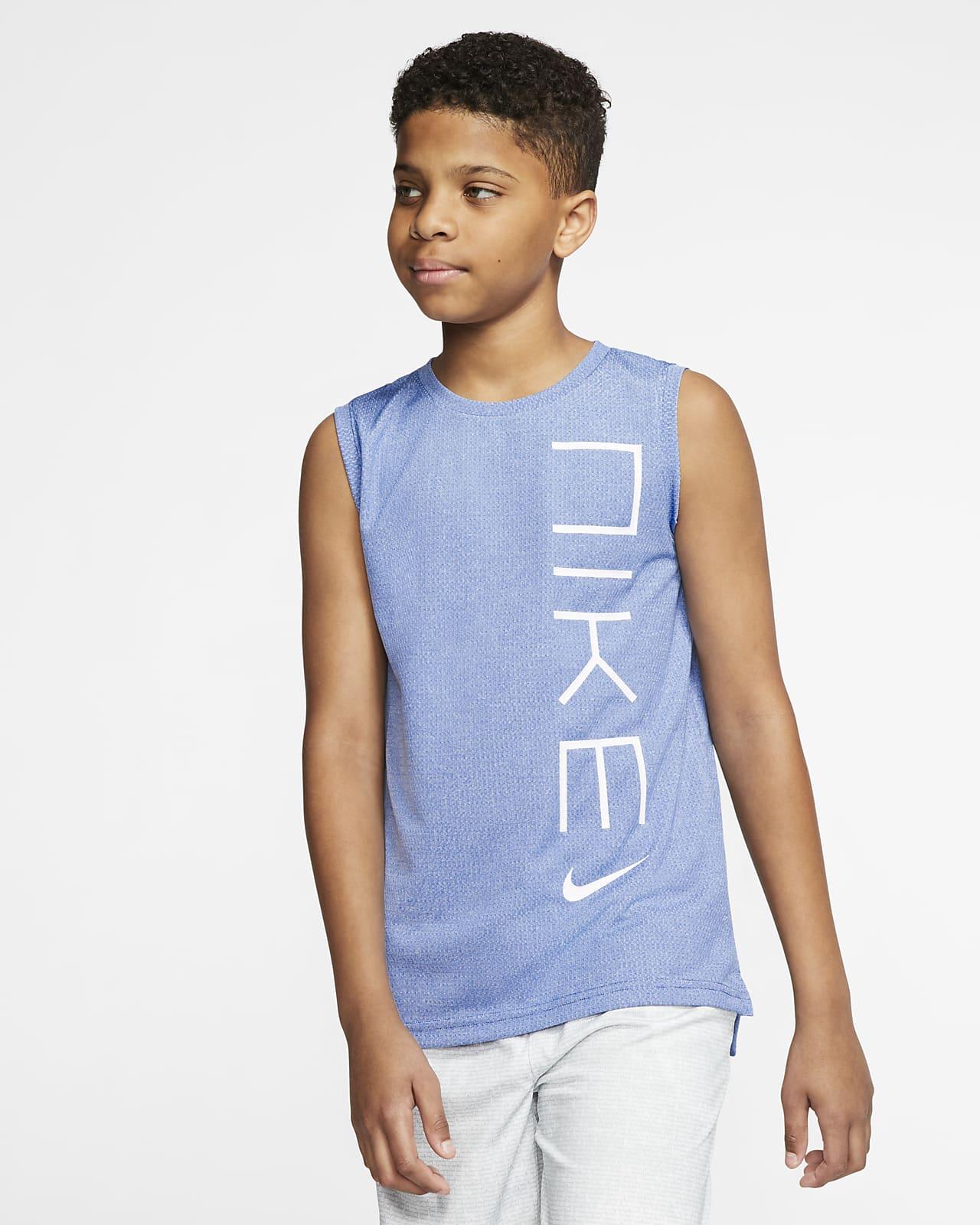 Nike 大童(男孩)无袖训练上衣