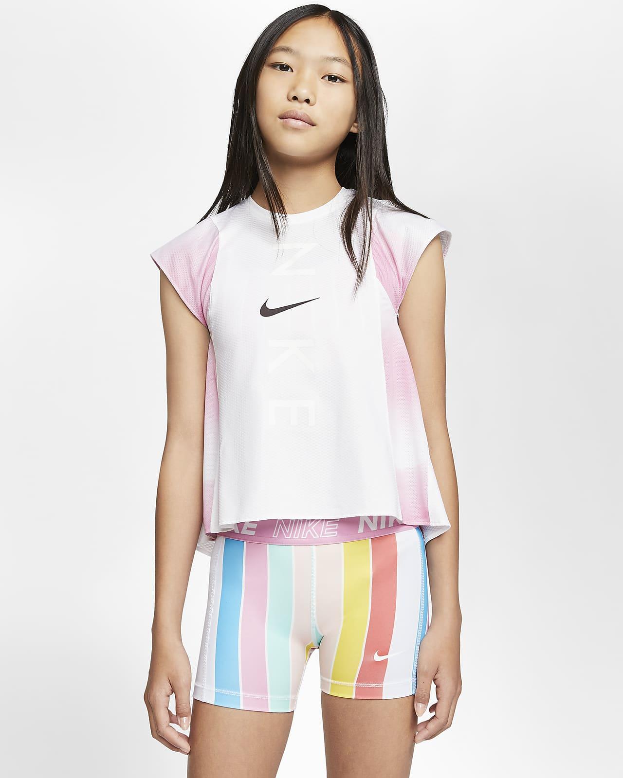 Träningslinne Nike Instacool för ungdom (tjejer)