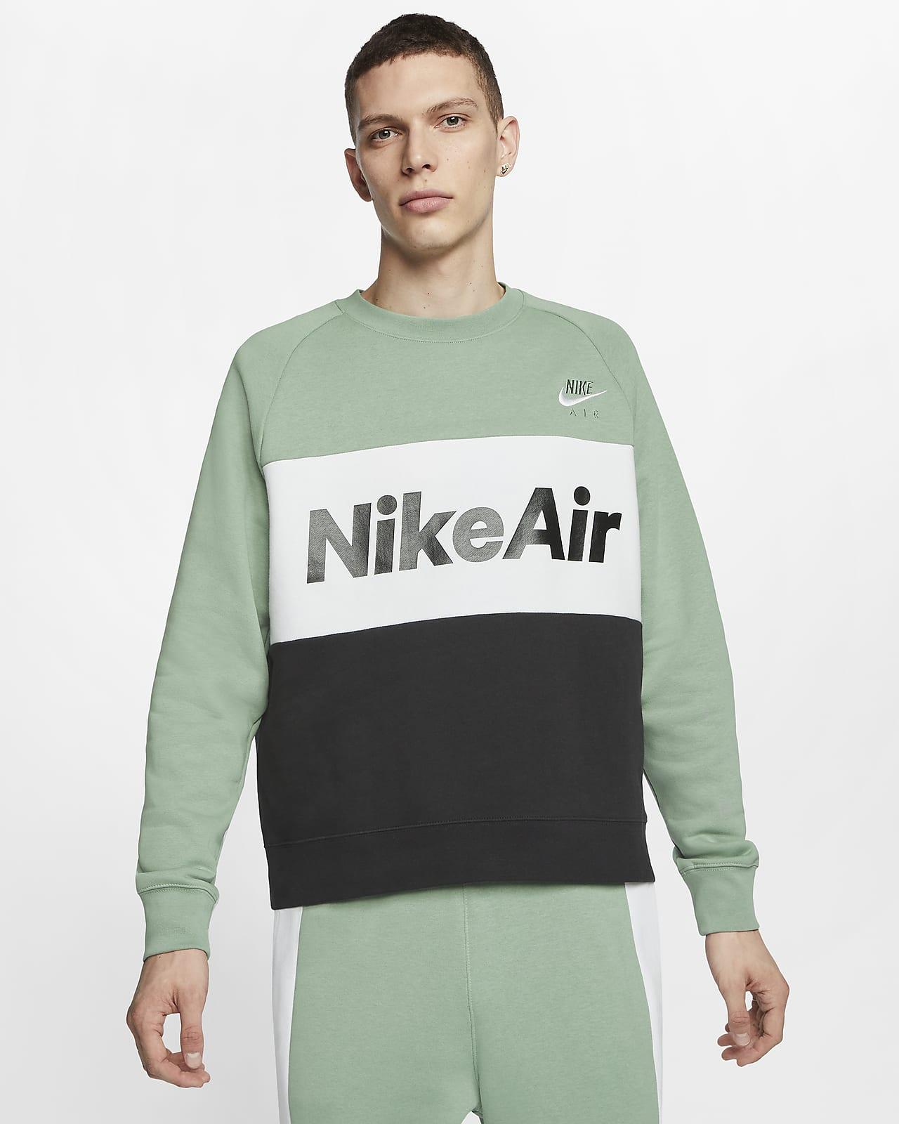 Nike Sportswear AIR Sweatshirt silver pineblackwhite