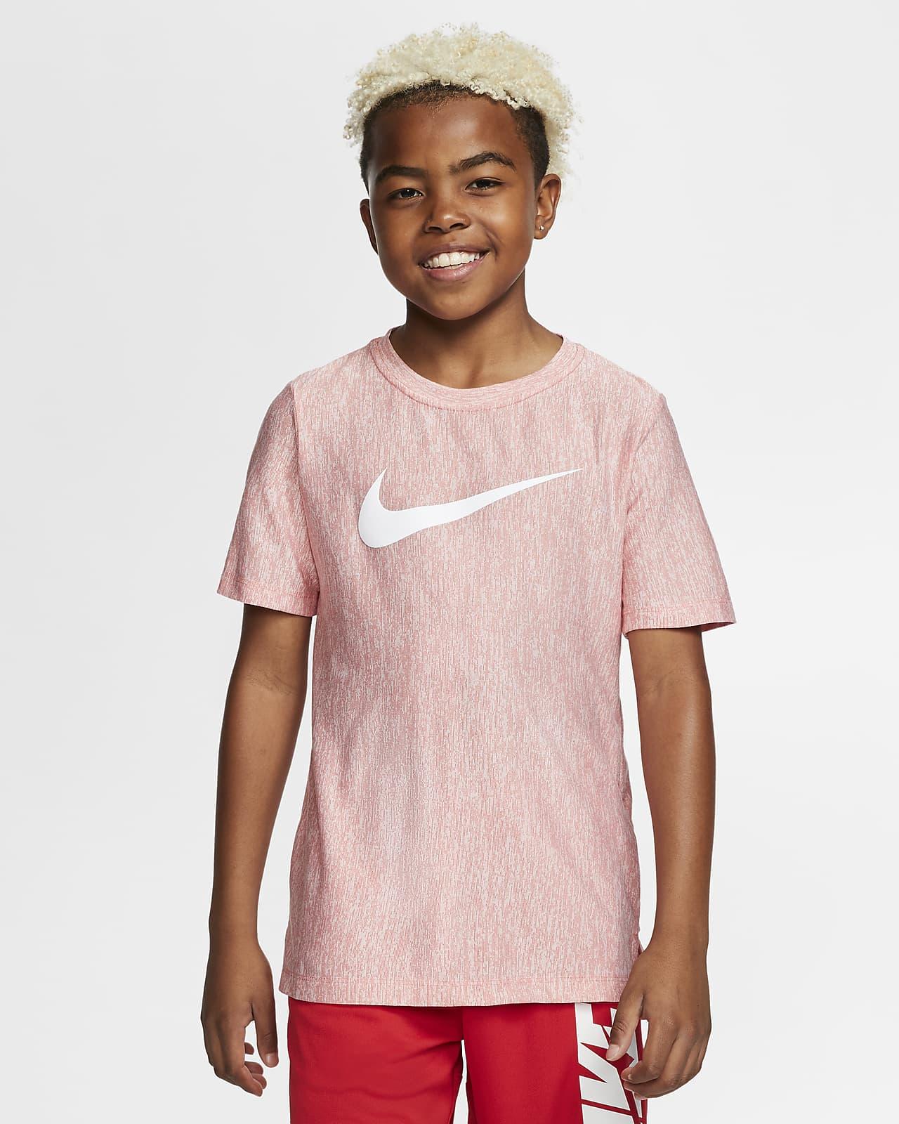 Nike Dri-FIT Trainingstop met korte mouwen voor jongens