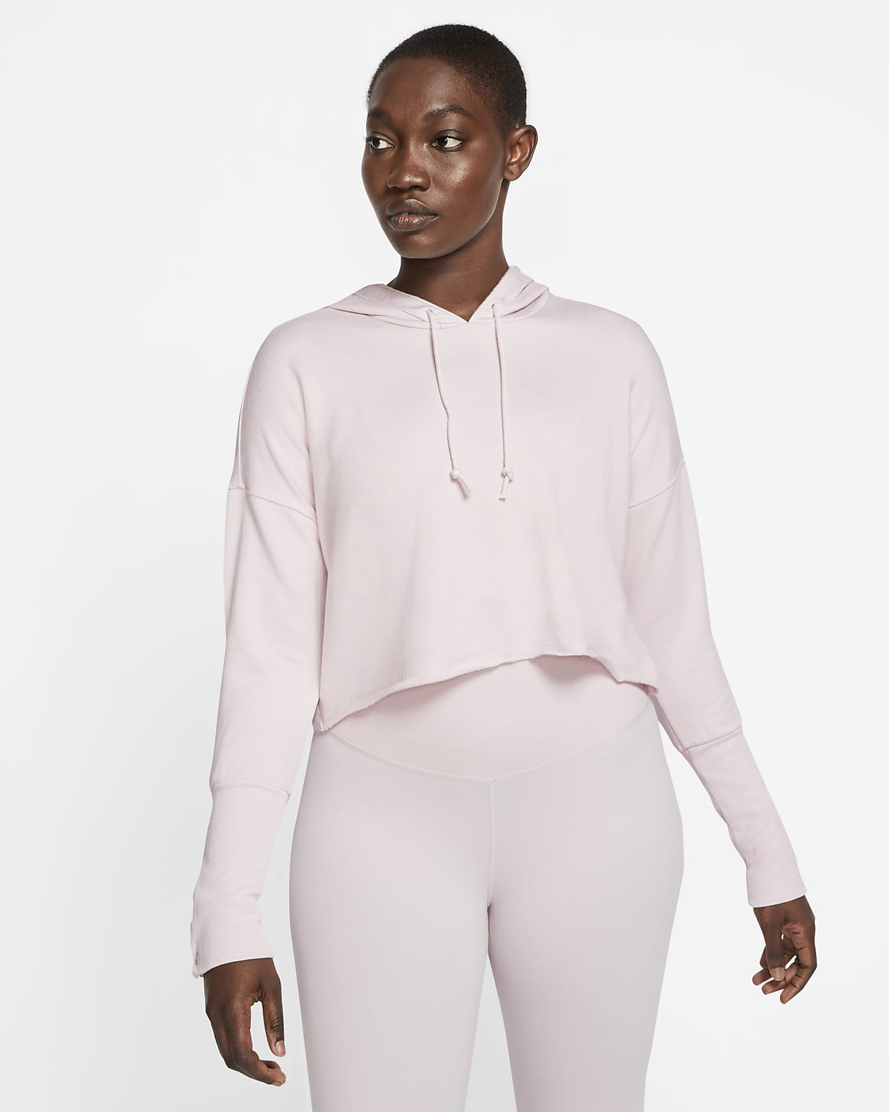 Sudadera corta con capucha para mujer Nike Yoga Luxe