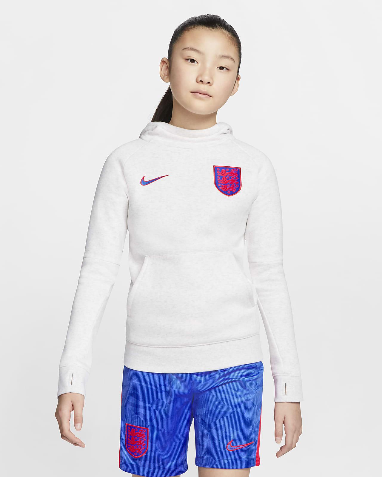 Felpa pullover da calcio in fleece con cappuccio Inghilterra - Ragazzi
