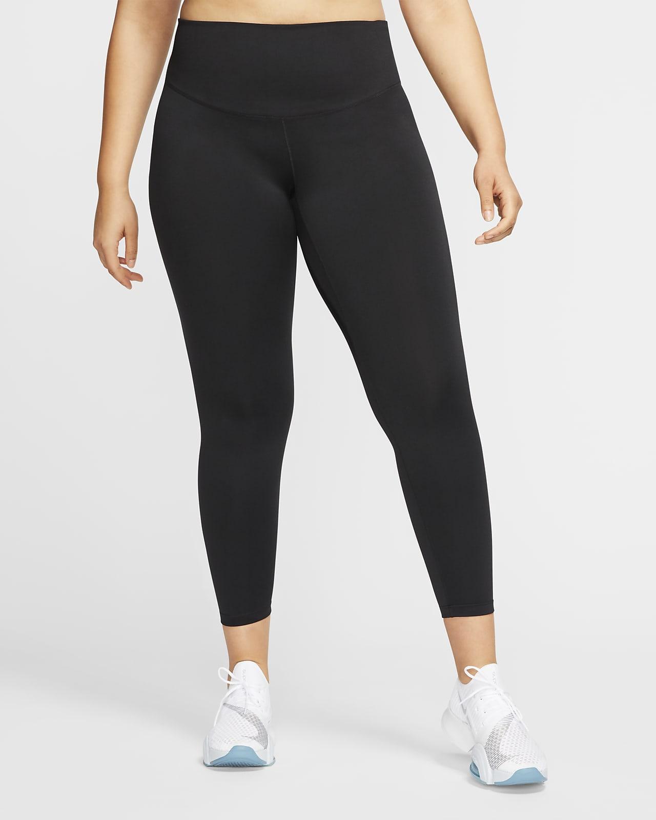 Dámské legíny Nike One se středně vysokým pasem (větší velikost)