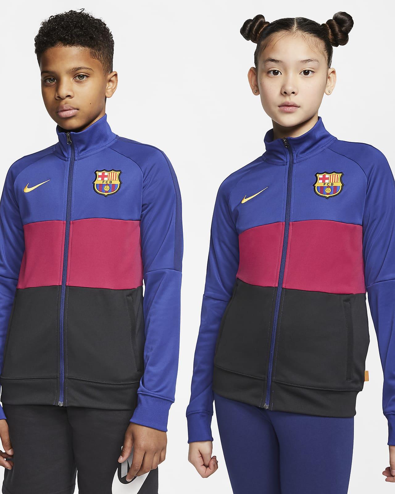Veste de survêtement de football FC Barcelona pour Enfant plus âgé