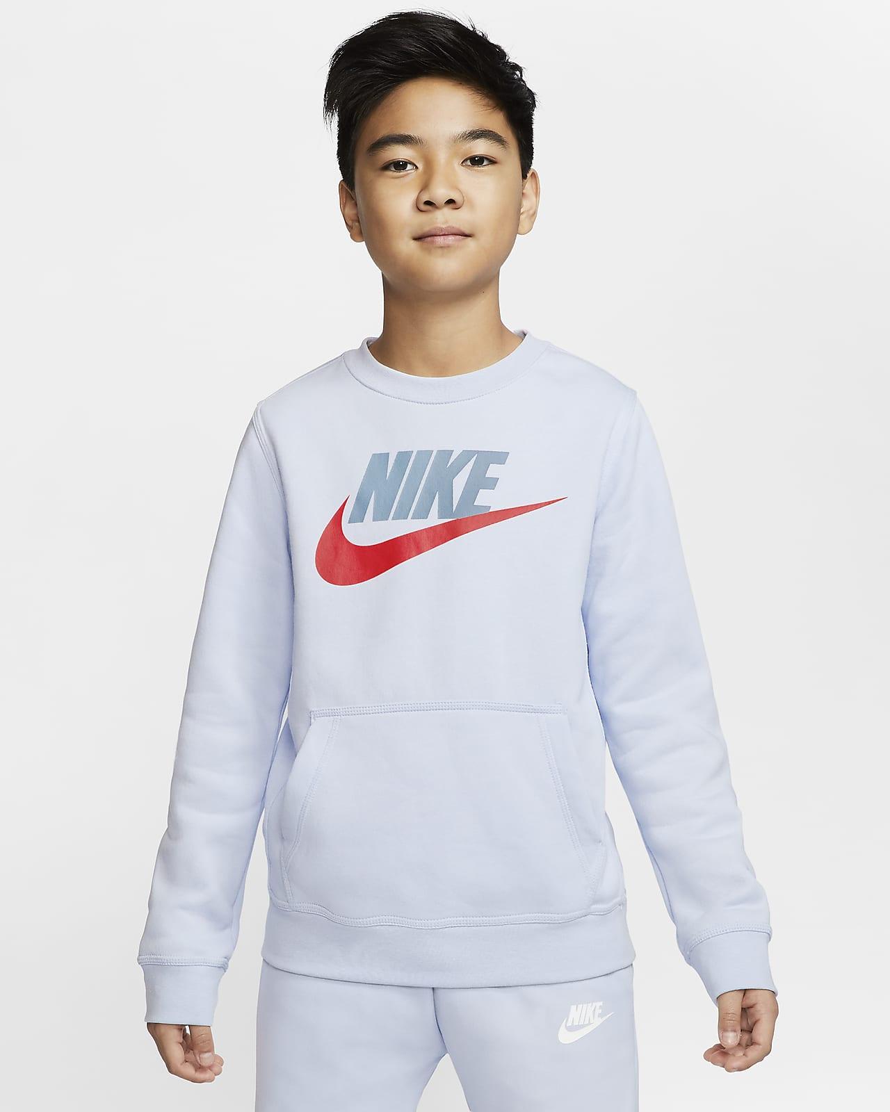 Tröja Nike Sportswear Club Fleece med rund hals för ungdom (killar)