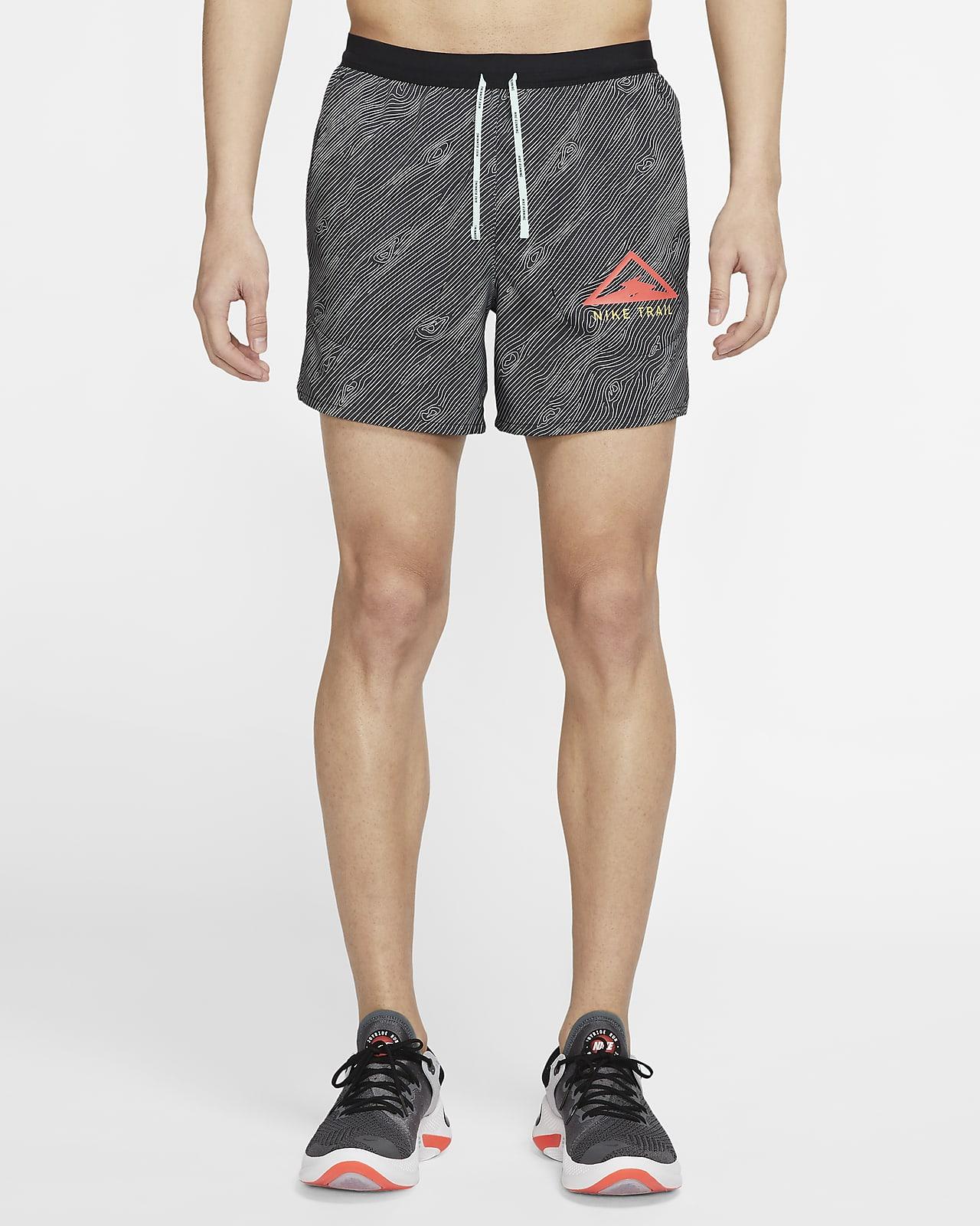 กางเกงวิ่งเทรลขาสั้น 5 นิ้วผู้ชาย Nike Flex Stride