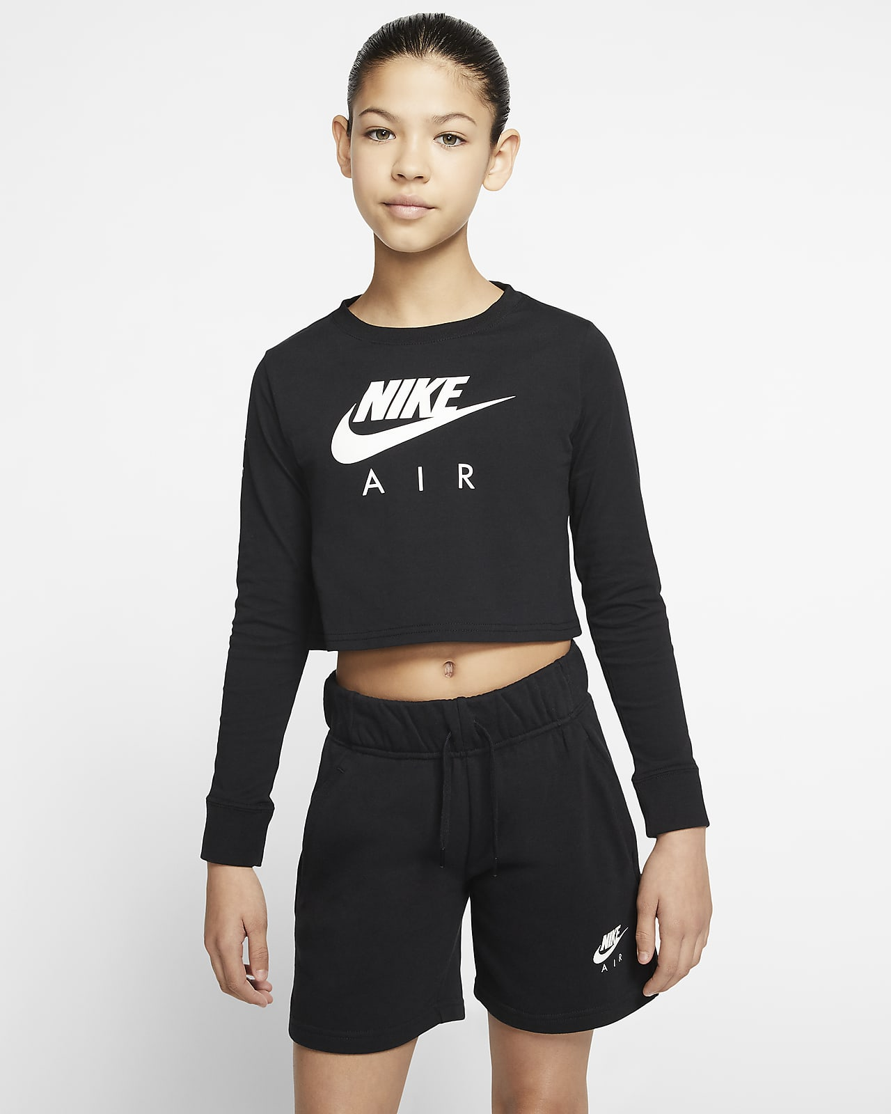 Långärmad t shirt Nike Air för ungdom (tjejer). Nike SE