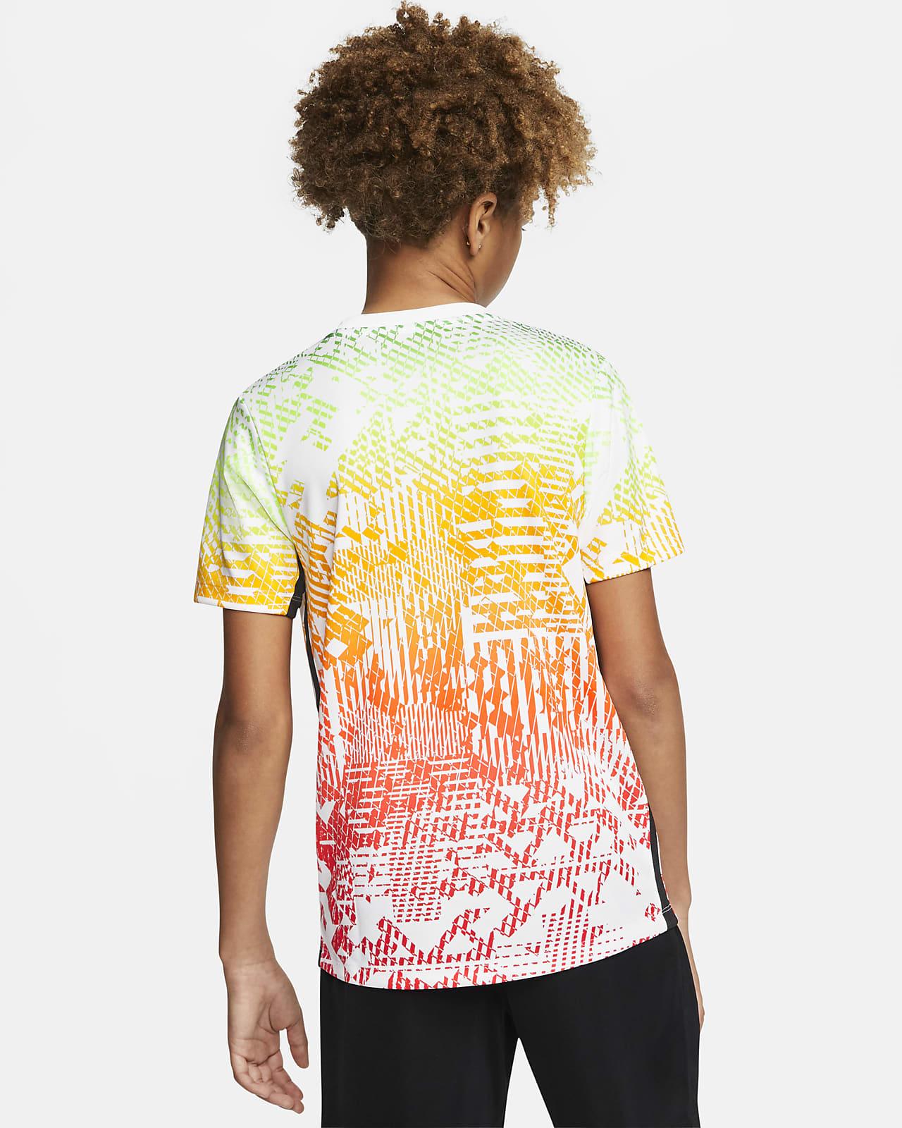 Nike Dri-Fit Neymar Jr Junior Ragazzi Calcio Formazione T Shirt Top Bianco//Multi