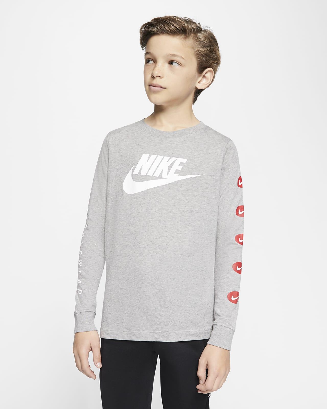 Nike Sportswear Big Kids' (Boys') Long-Sleeve T-Shirt
