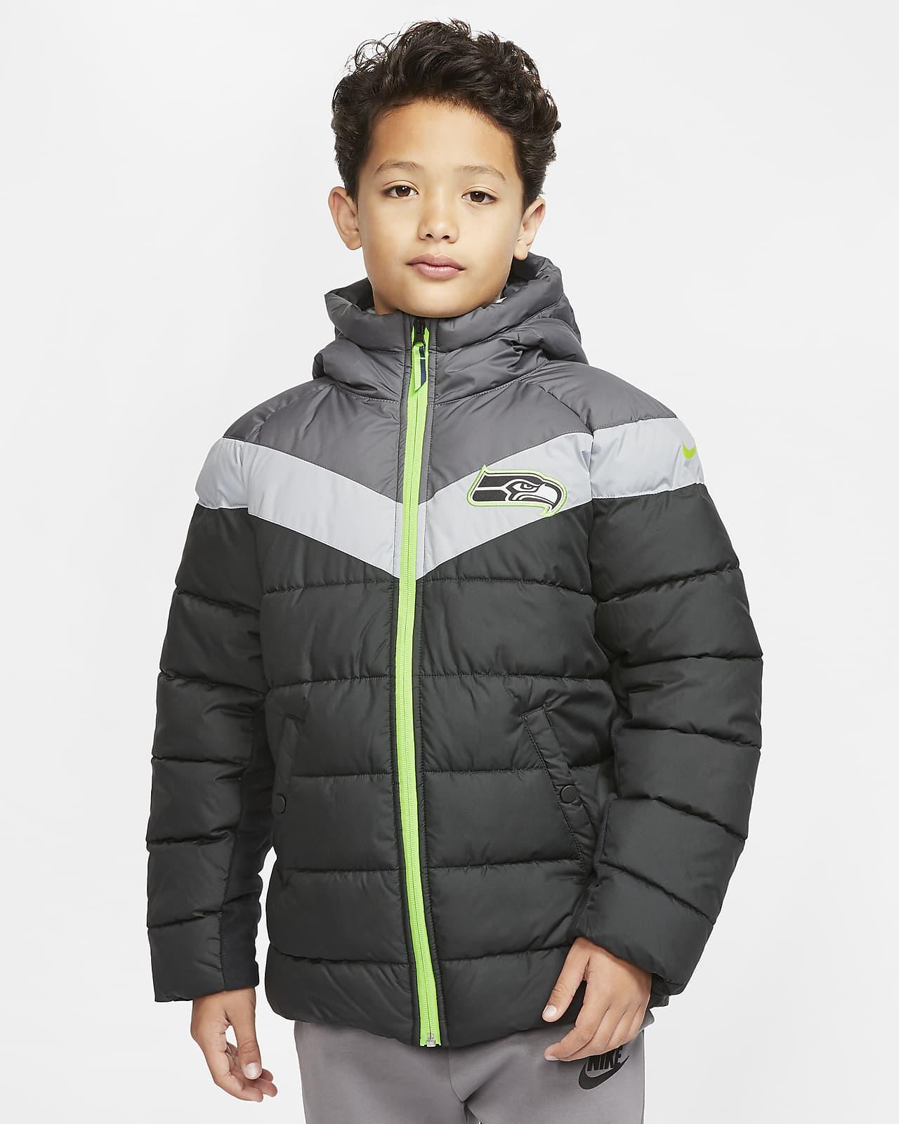 Nike (NFL Seahawks) Big Kids' Hooded Puffer Jacket