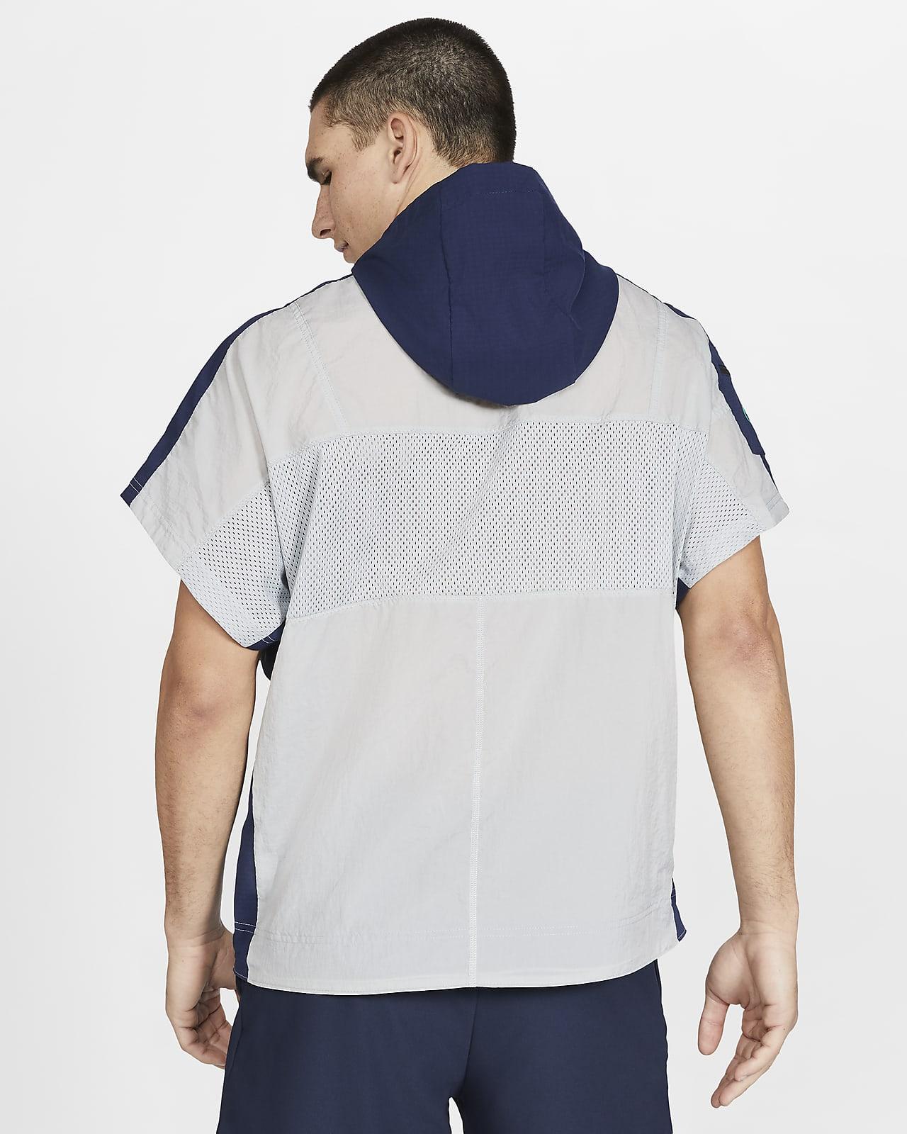 sweat capuche à manche courte zippé nike