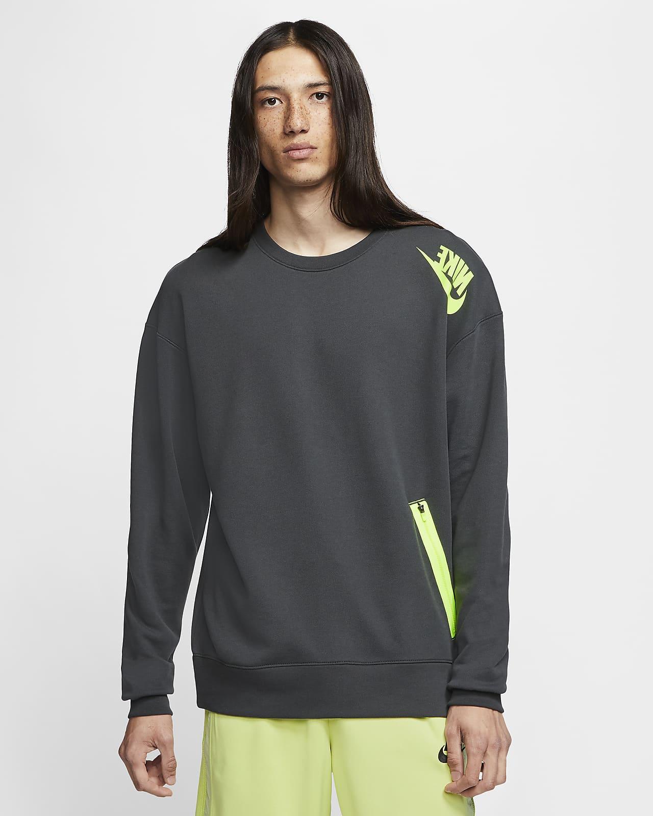 Pánská mikina Nike Sportswear s kulatým výstřihem z francouzského froté