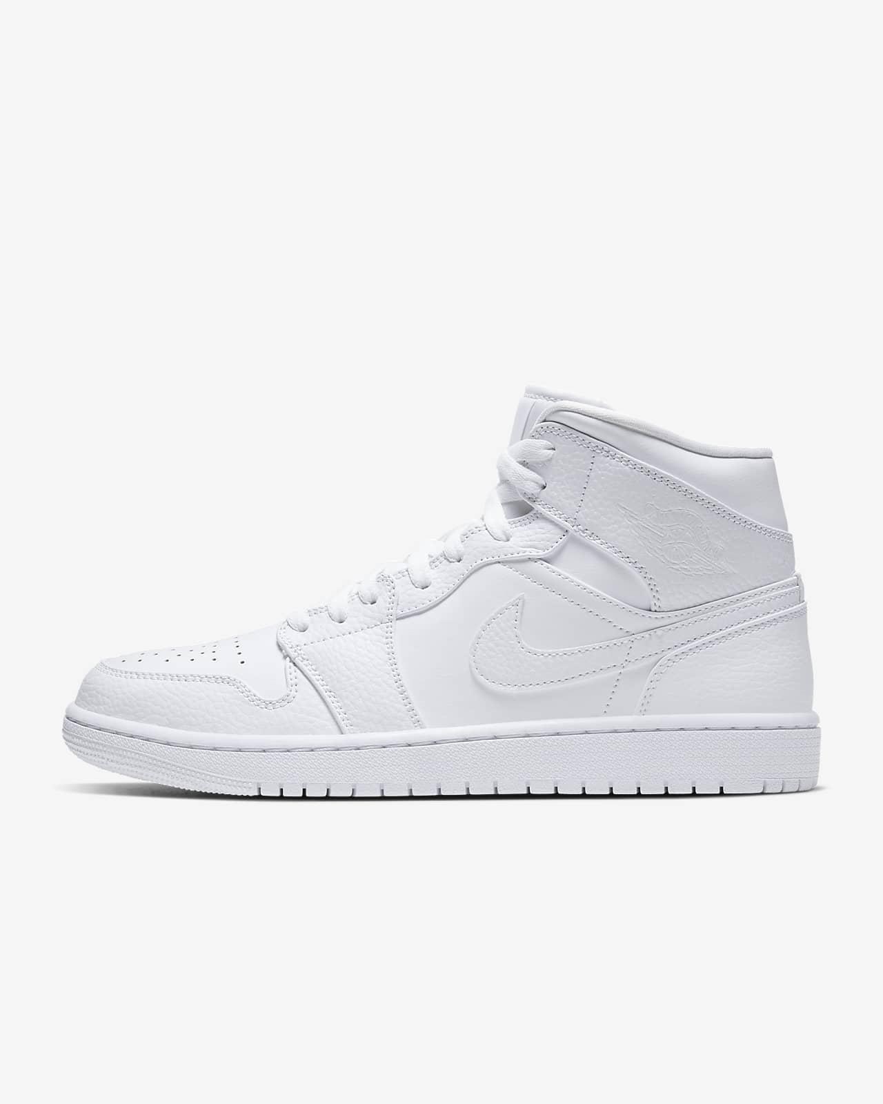 Kjøp Nike Air Jordan 1 Mid Shoe White Black White sko Online
