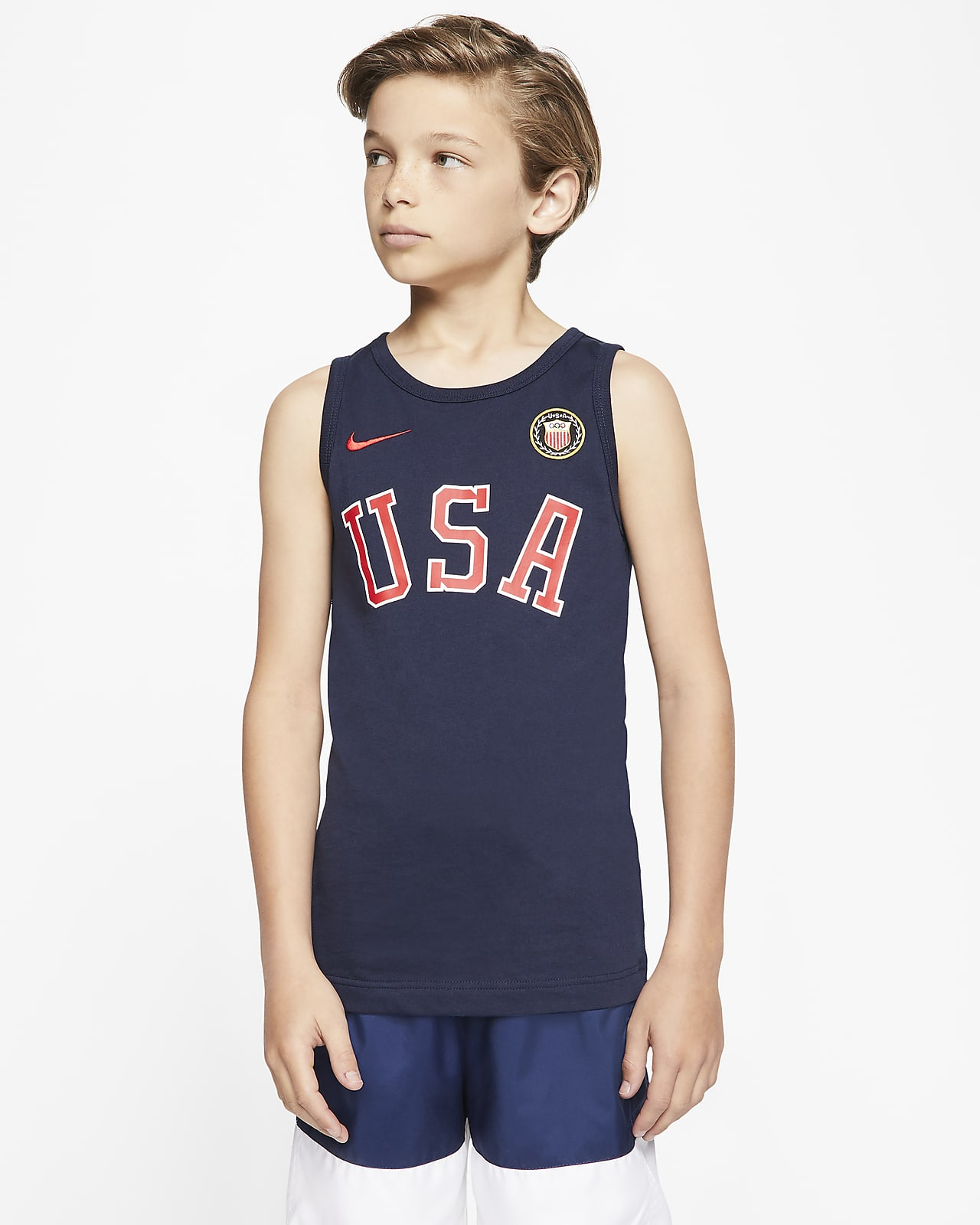 Camiseta de tirantes para niño talla grande Nike Sportswear Team USA