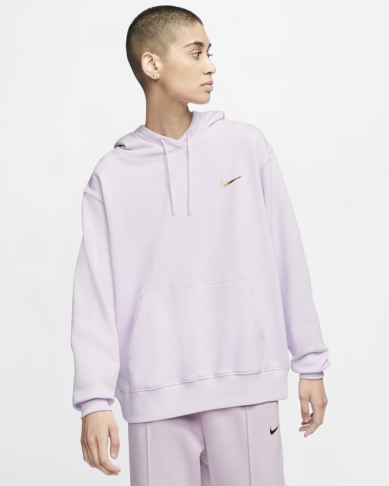 Nike Sportswear Swoosh kapucnis, belebújós női pulóver
