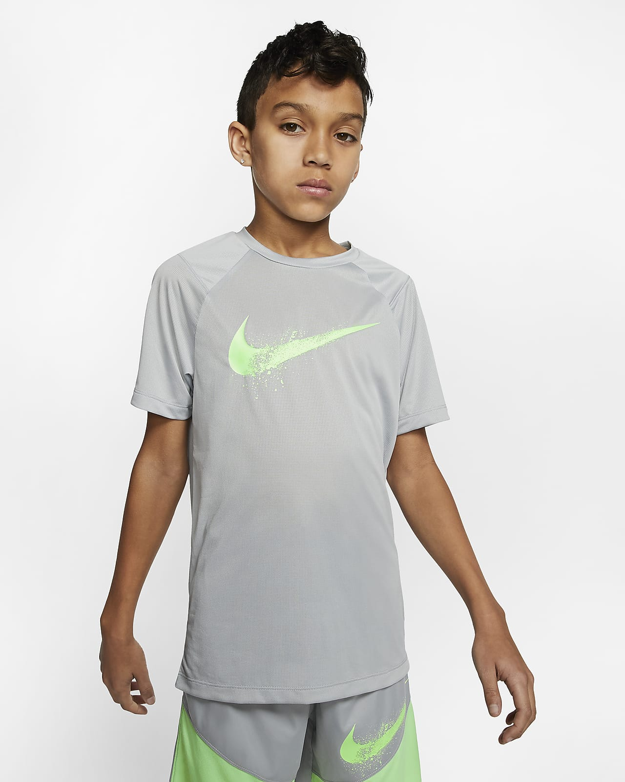 Nike Big Kids' (Boys') Short-Sleeve Graphic Training Top