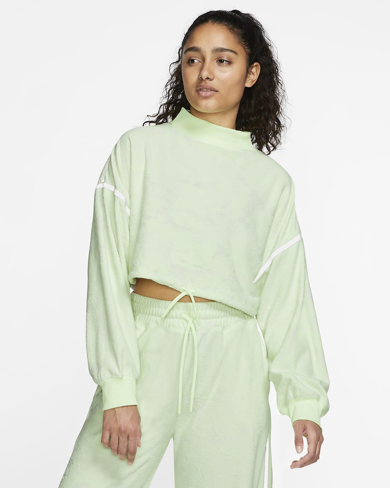 Nike City Ready Fleece-Trainingsoberteil mit Crop-Design für Damen