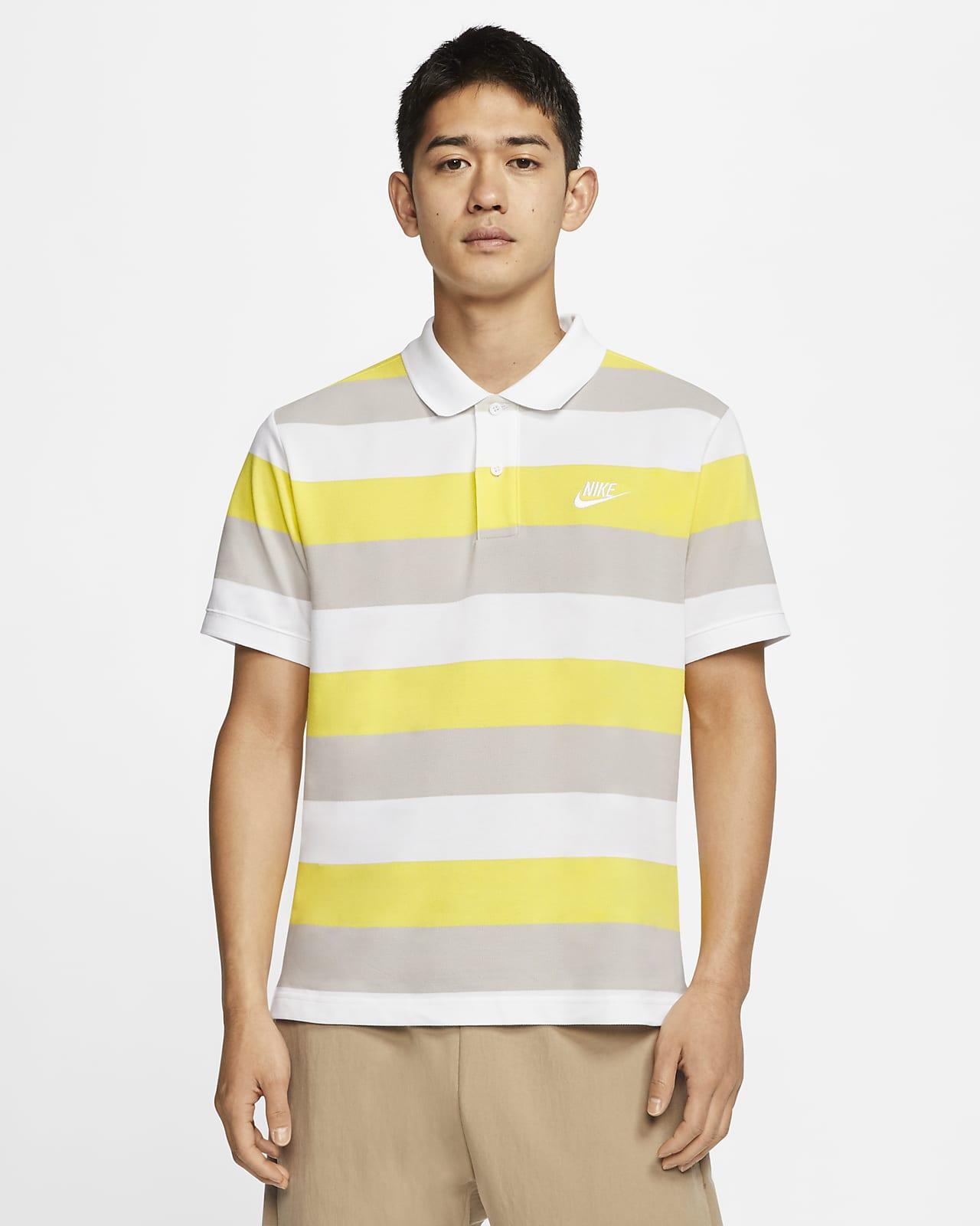 เสื้อโปโลผู้ชายลายทาง Nike Sportswear