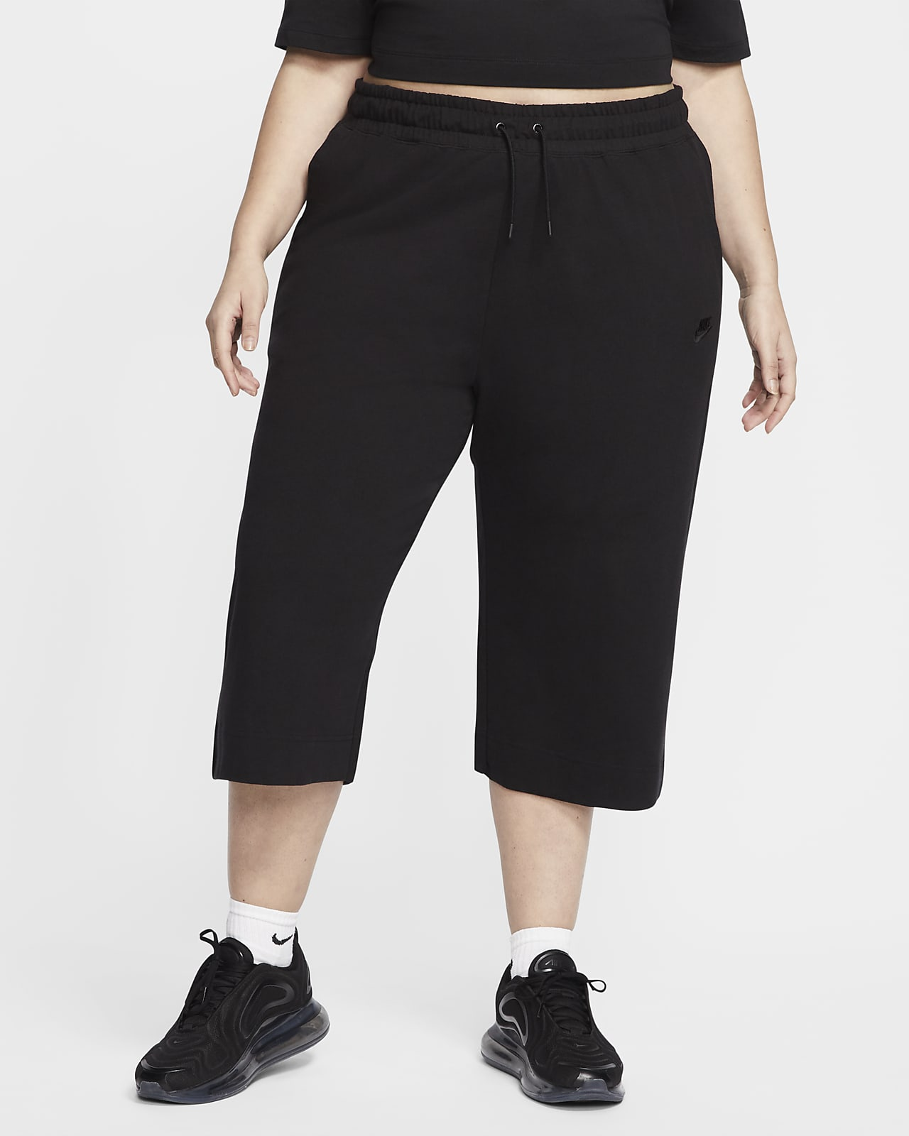 Nike Sportswear capribukser i jersey til dame (store størrelser)